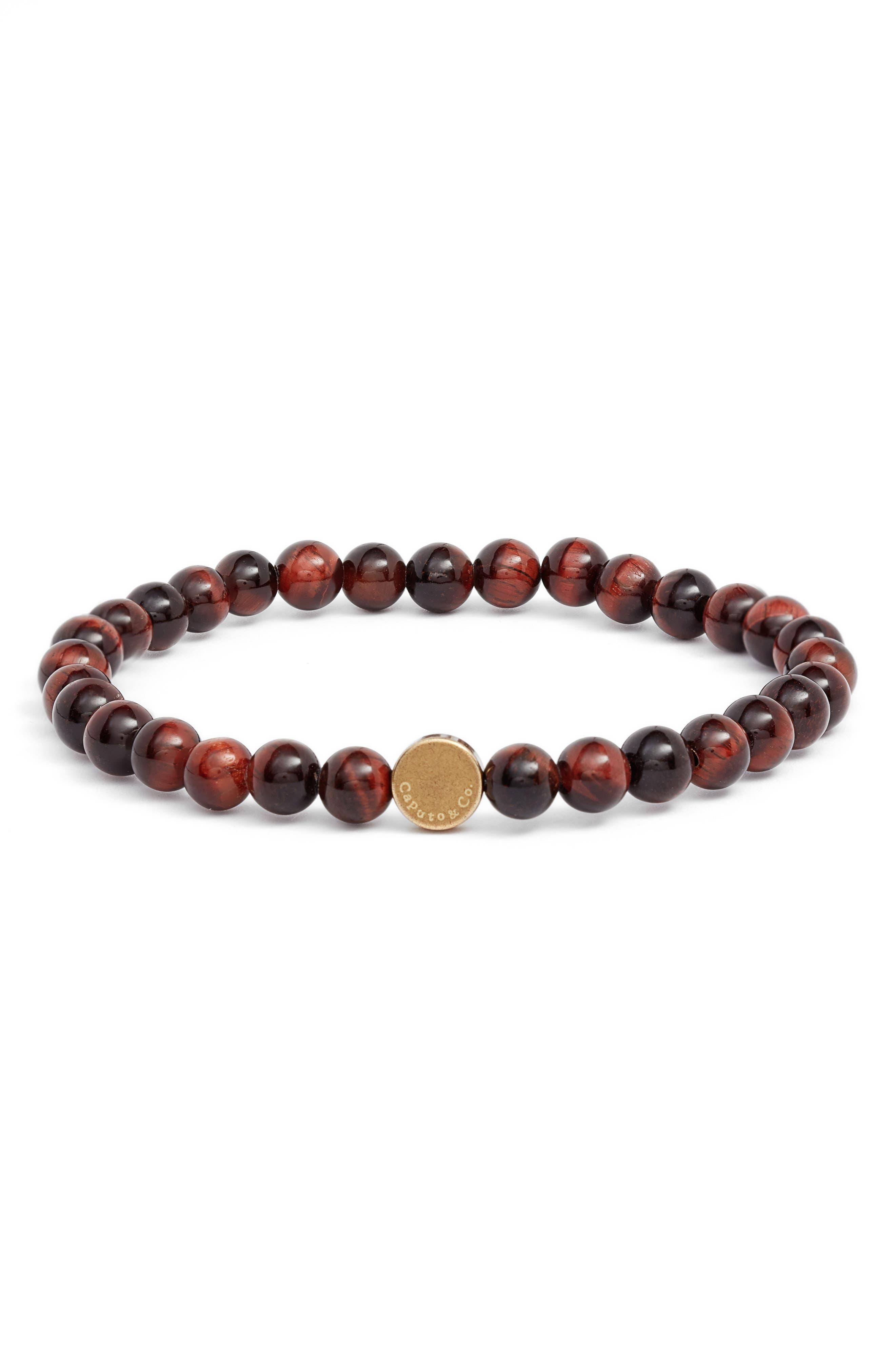 CAPUTO & CO. Stone Bead Bracelet in Brown