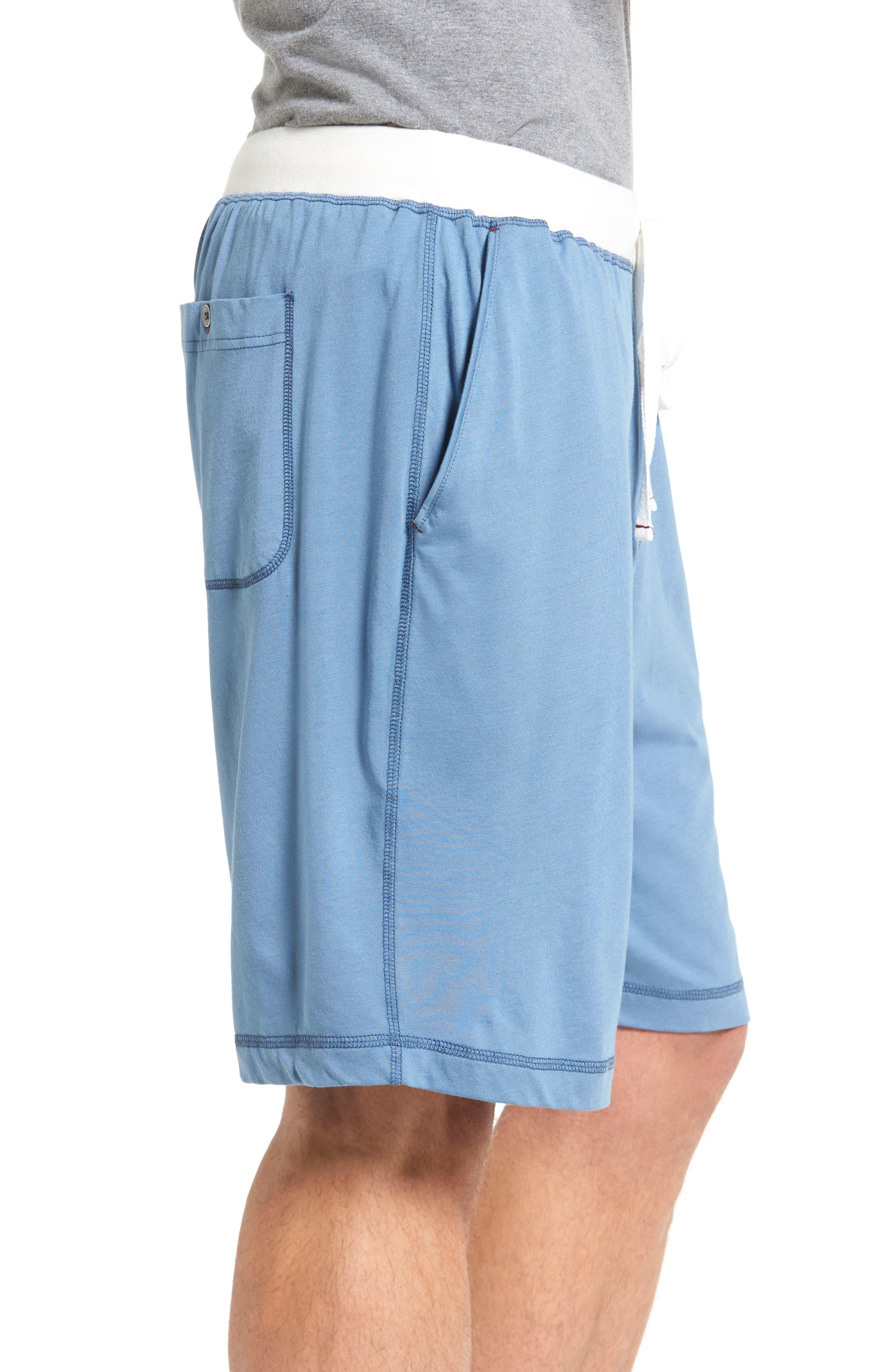 Pima Cotton & Modal Lounge Shorts,                             Alternate thumbnail 3, color,                             400