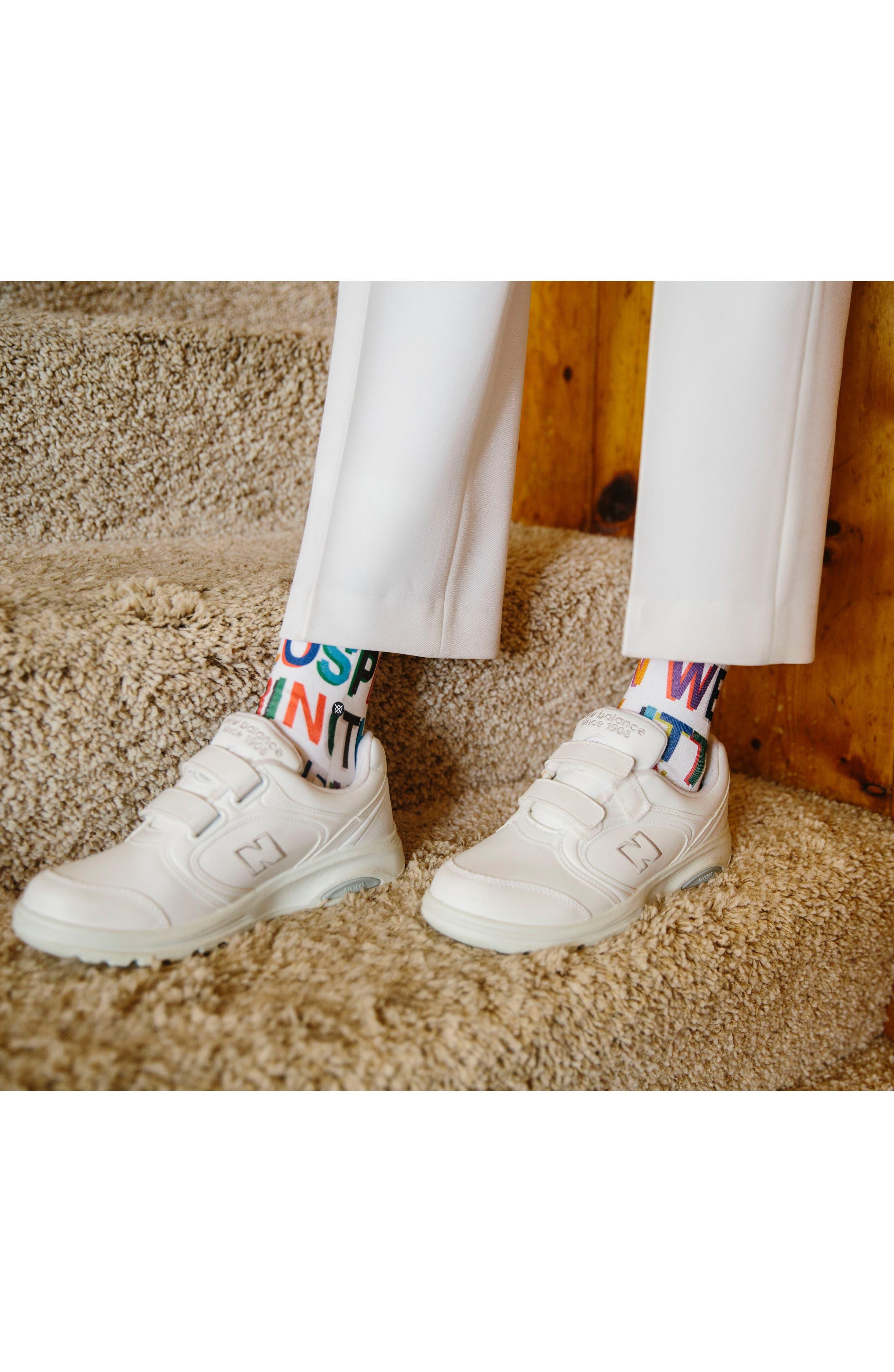 x Libertine Love Letters Crew Socks,                             Alternate thumbnail 7, color,