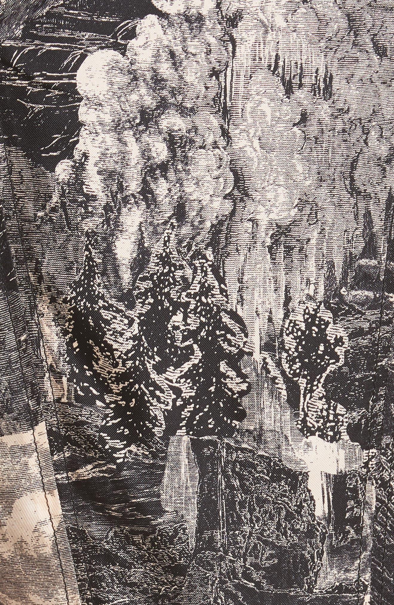 Pascala Silk Dress,                             Alternate thumbnail 5, color,                             PALE APRICOT