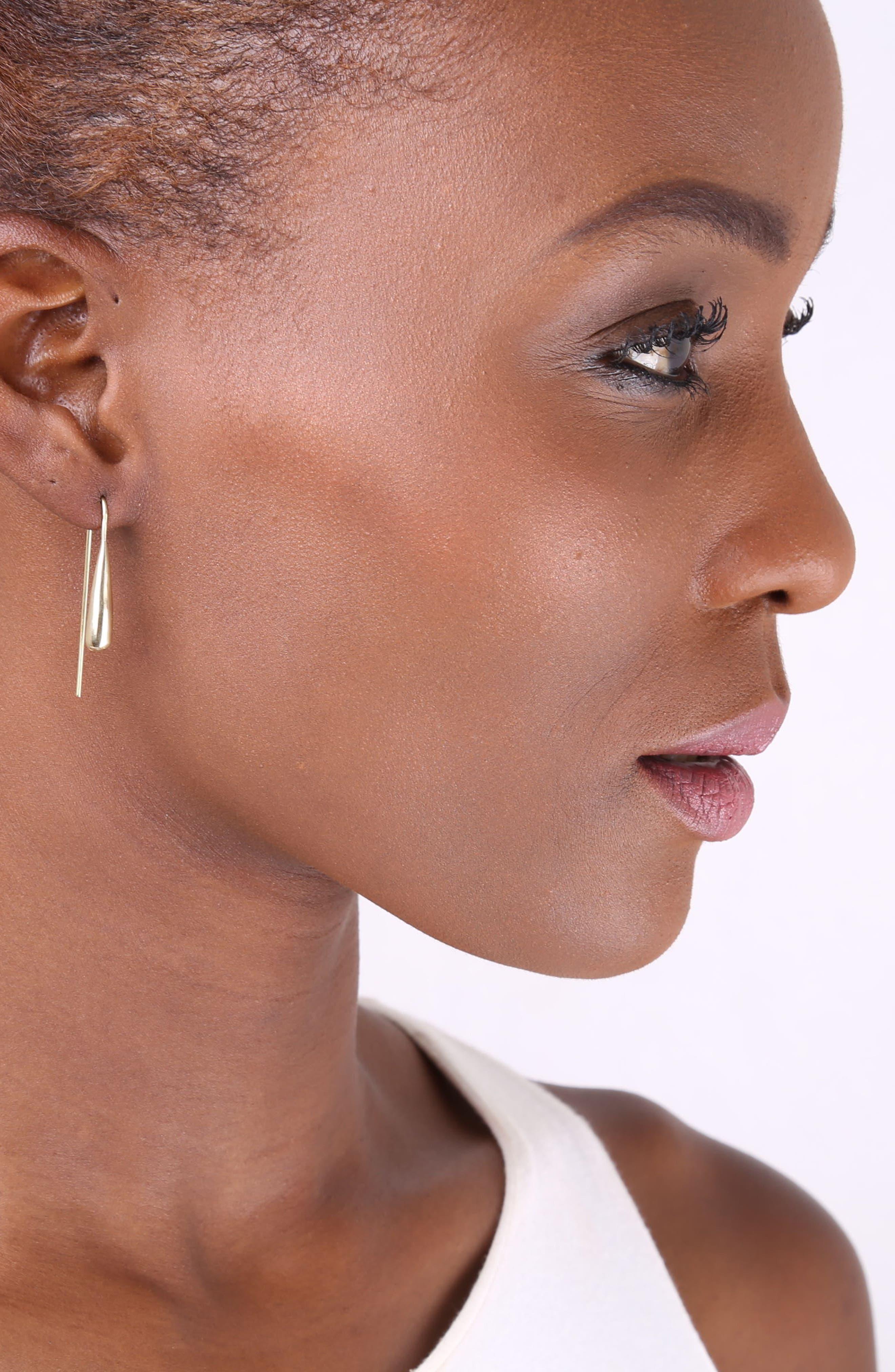 Teardrop Threader Earrings,                             Alternate thumbnail 2, color,                             221