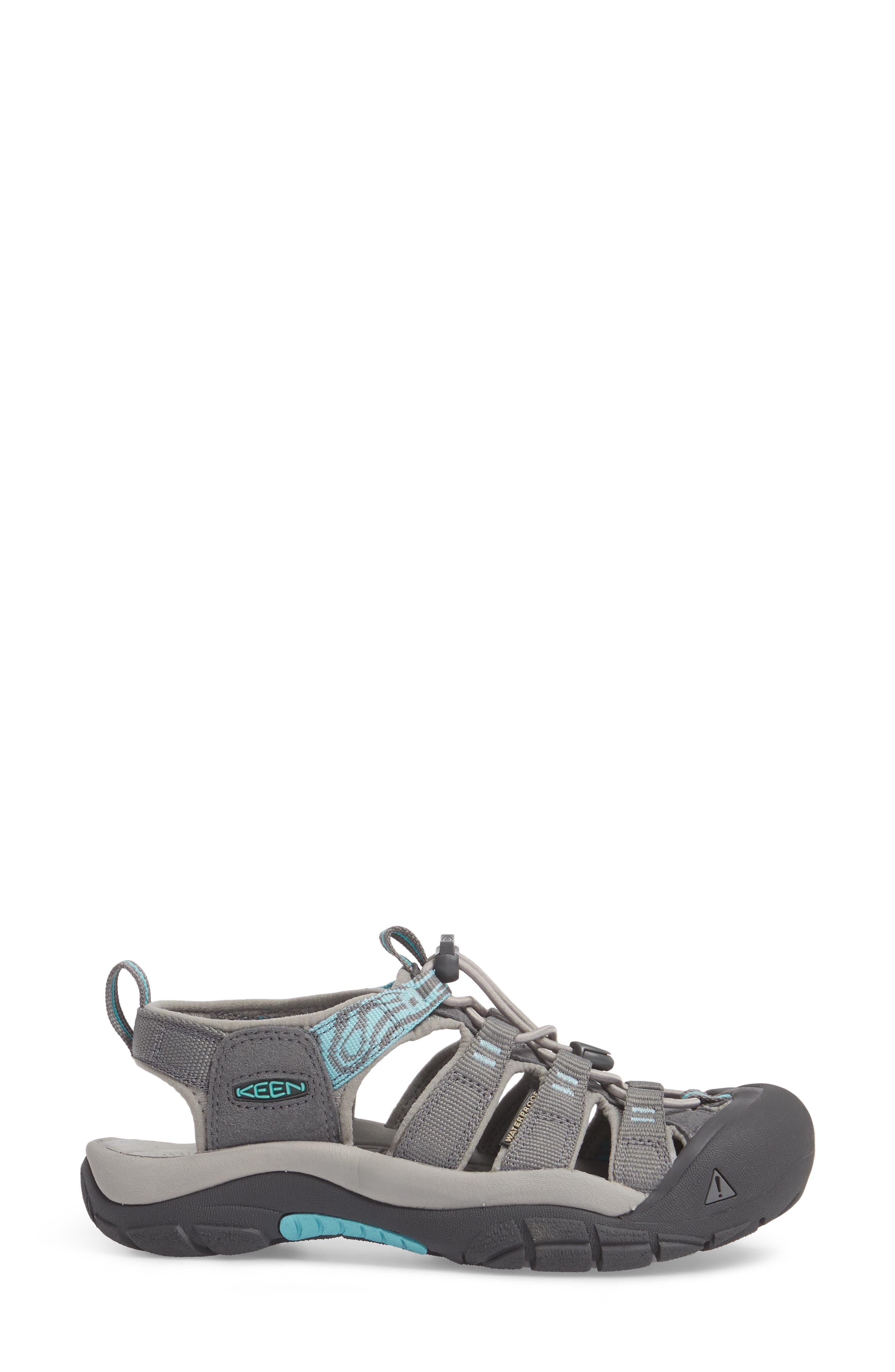 Newport Hydro Sandal,                             Alternate thumbnail 3, color,                             STEEL GREY/ BLUE TURQUOISE