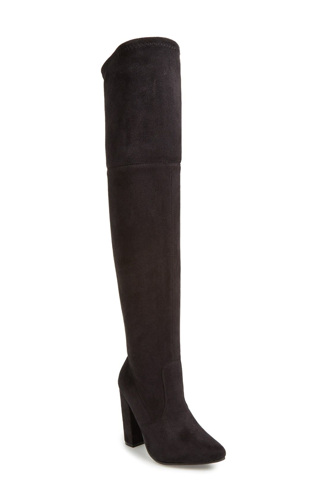'Rocking' Over the Knee Boot,                             Main thumbnail 1, color,                             001