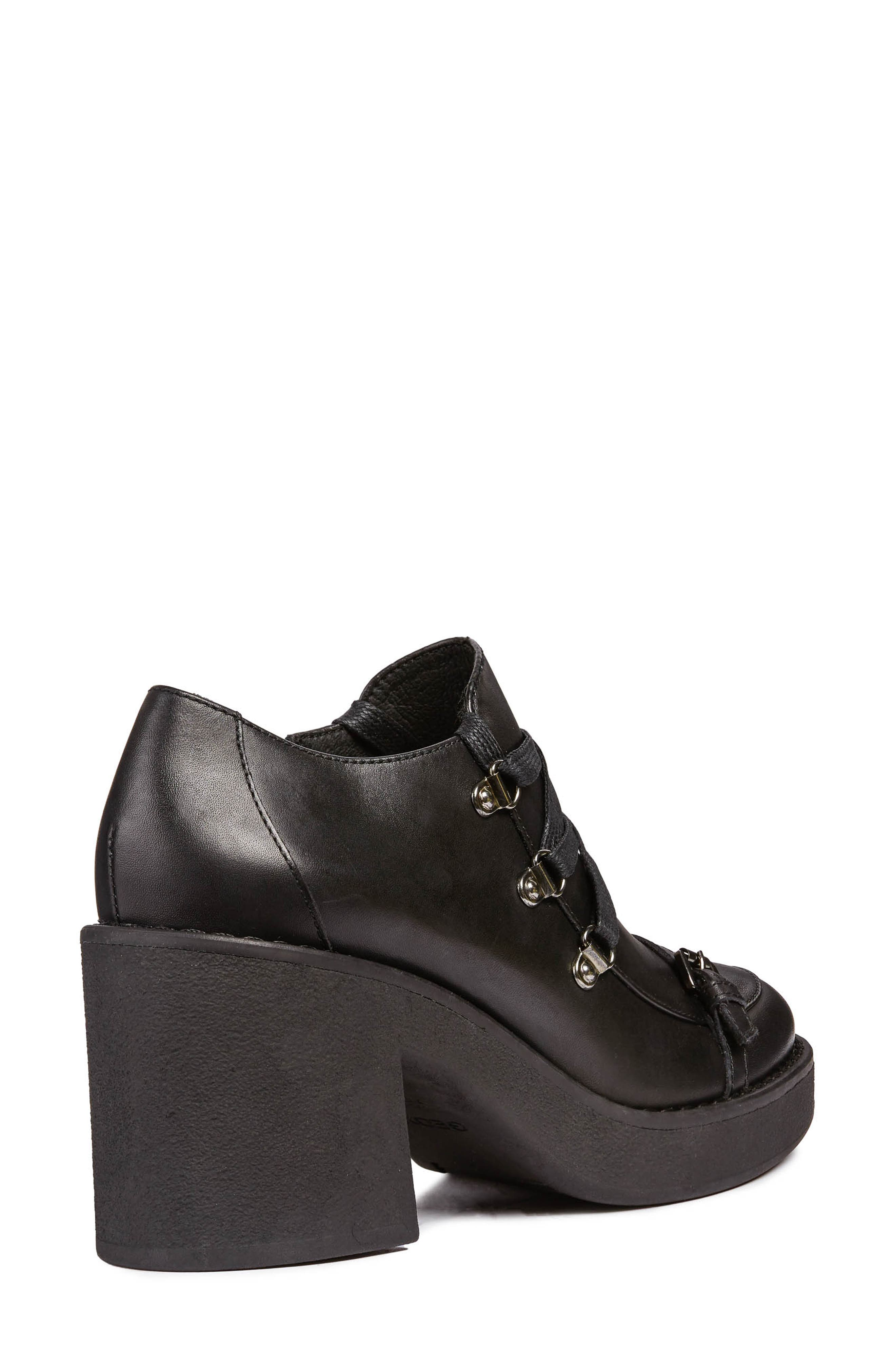 Adrya Bootie,                             Alternate thumbnail 6, color,                             BLACK LEATHER