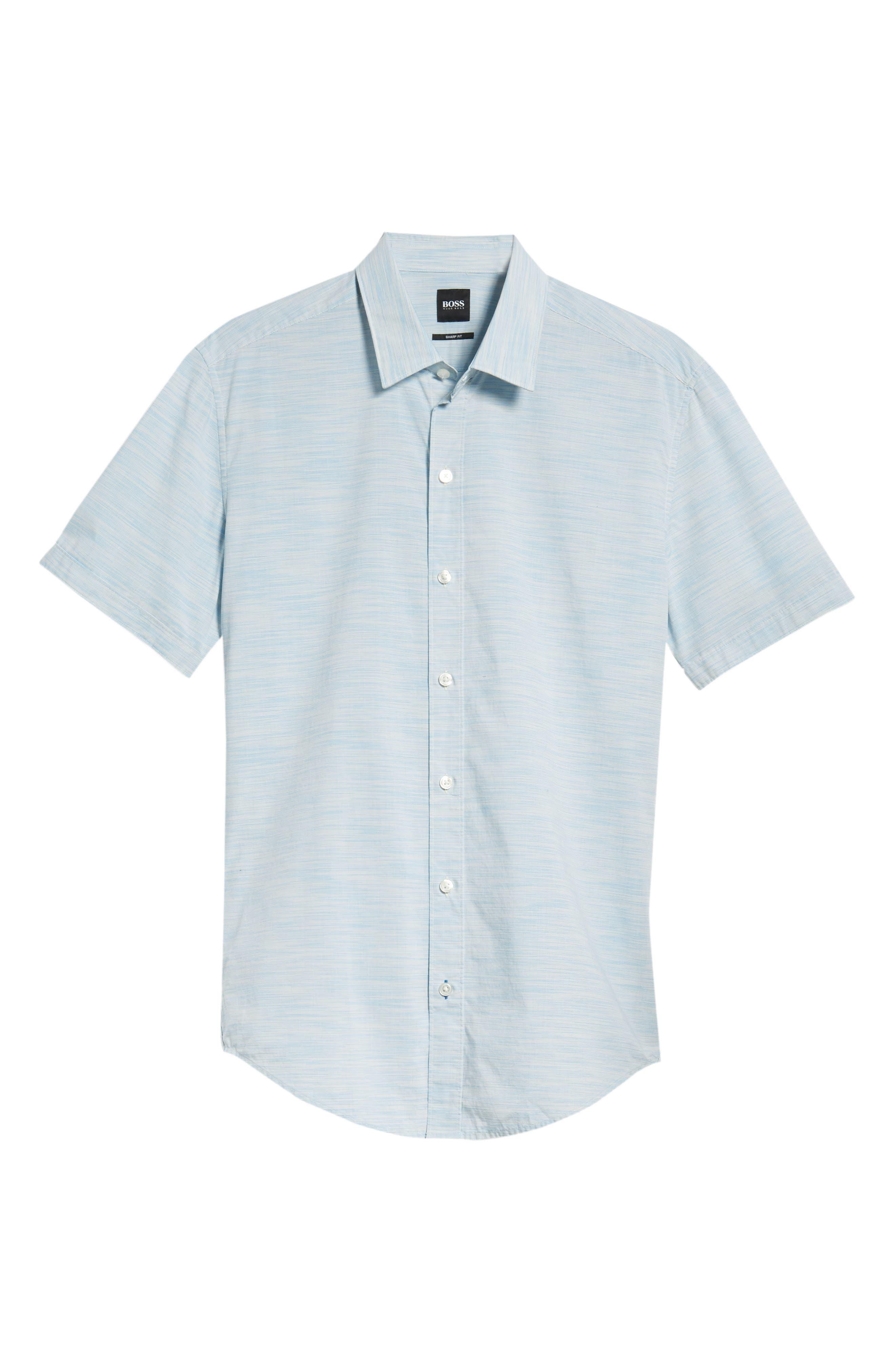 Space Dyed Trim Fit Sport Shirt,                             Alternate thumbnail 5, color,                             470