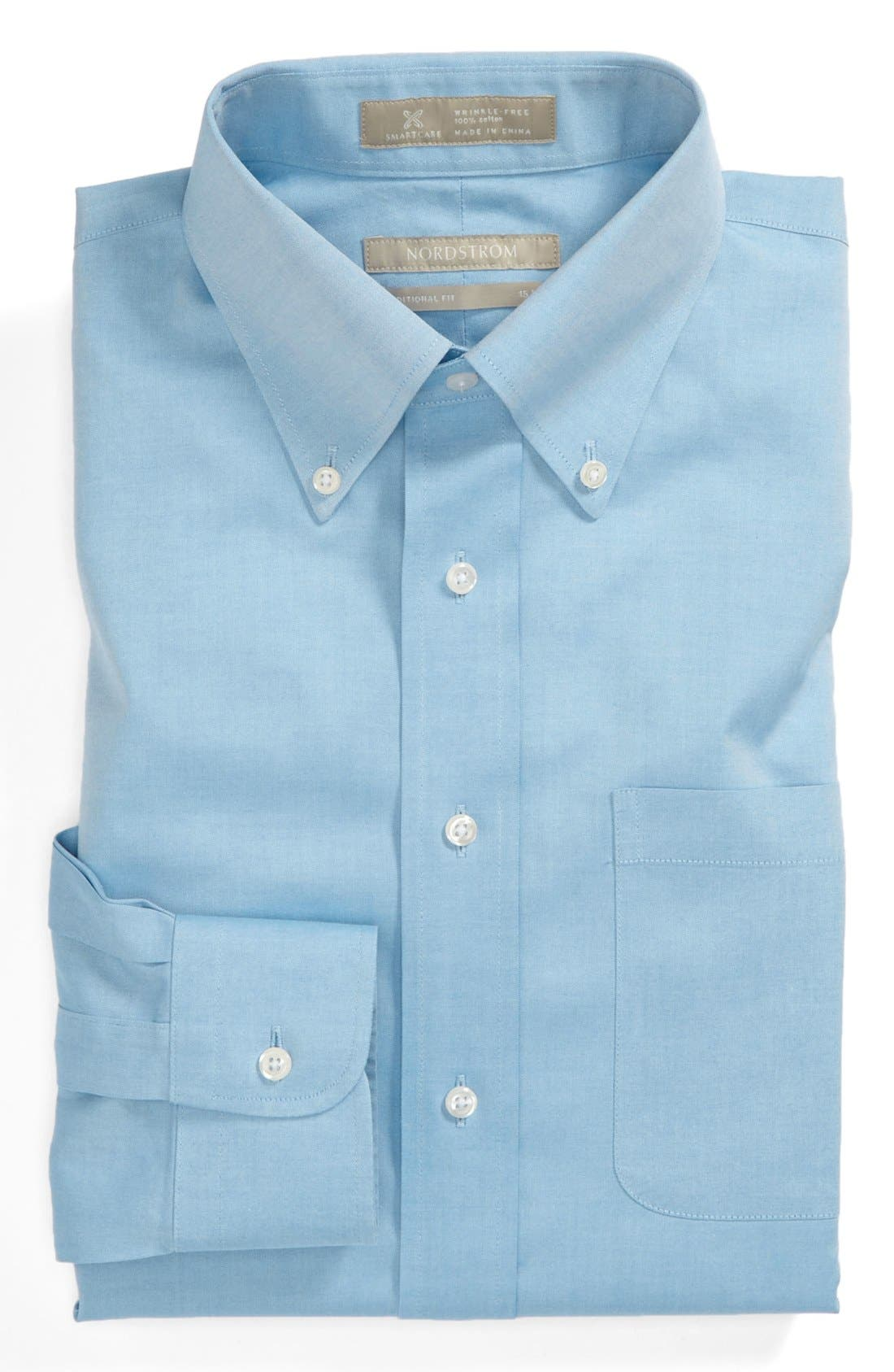 Smartcare<sup>™</sup> Traditional Fit Pinpoint Dress Shirt,                             Main thumbnail 23, color,