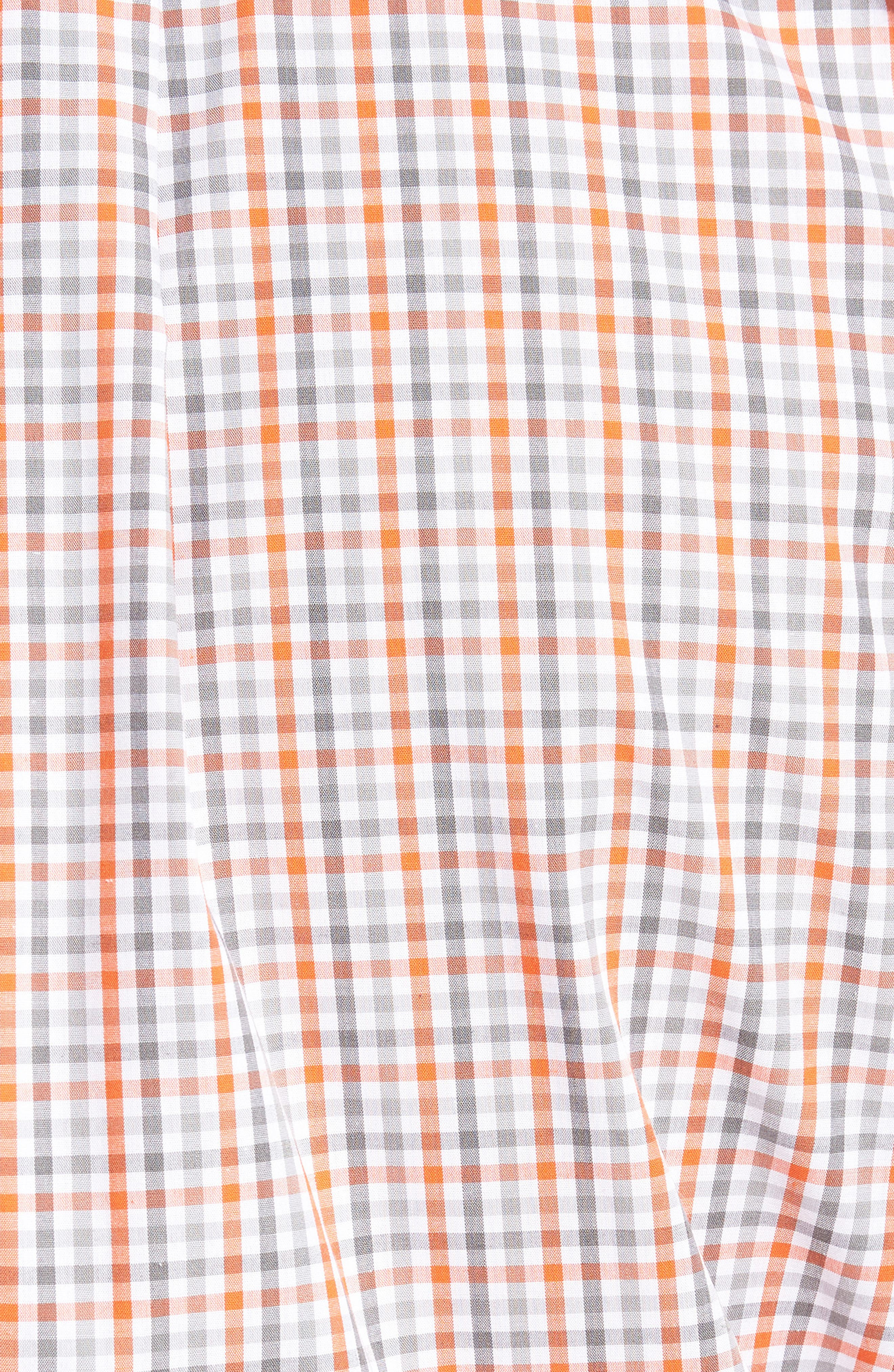Denver Broncos - Gilman Regular Fit Plaid Sport Shirt,                             Alternate thumbnail 5, color,                             COLLEGE ORANGE