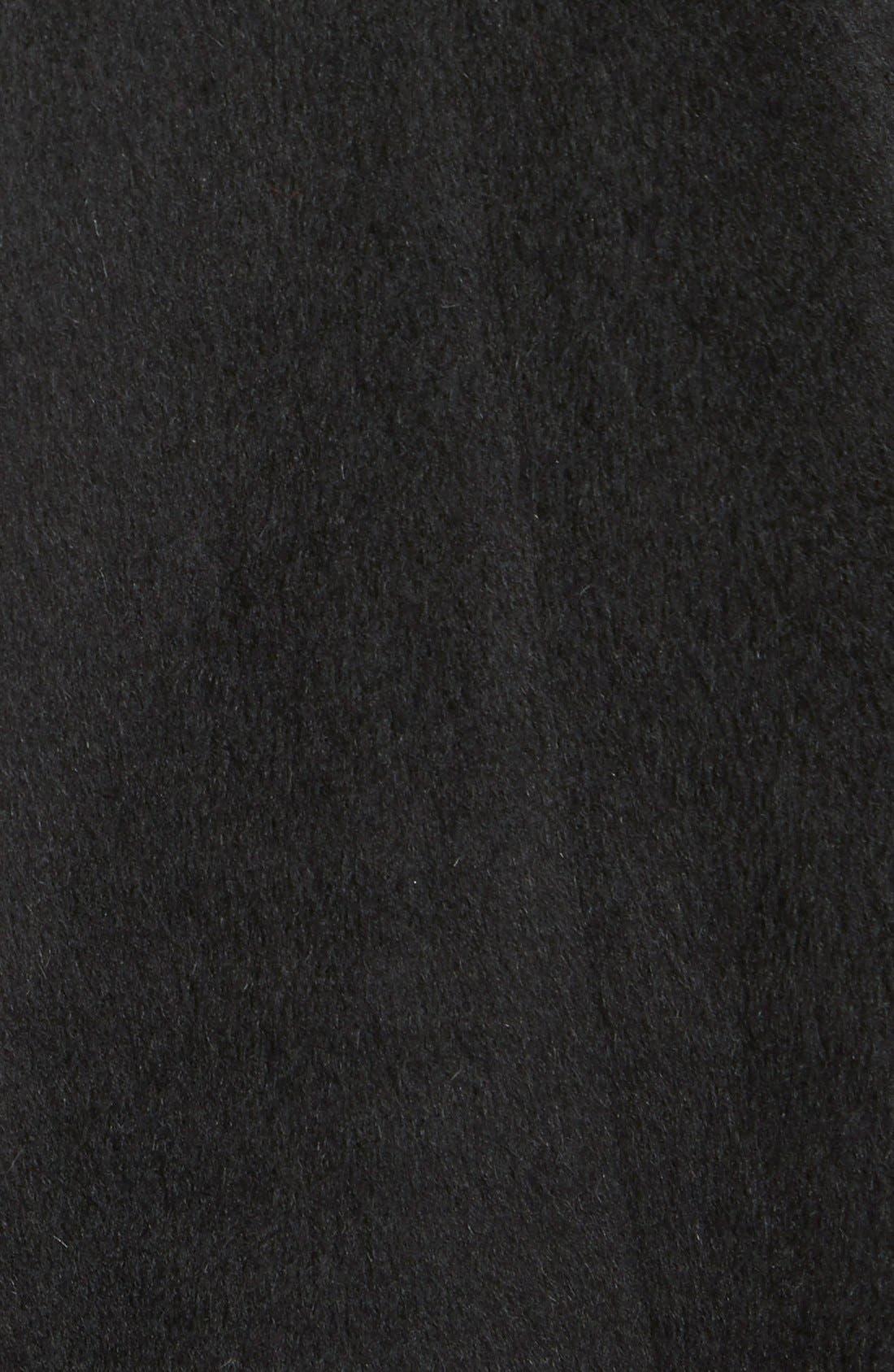 TRINA TURK,                             'Bonnie' Shawl Collar Skirted Coat,                             Alternate thumbnail 3, color,                             001