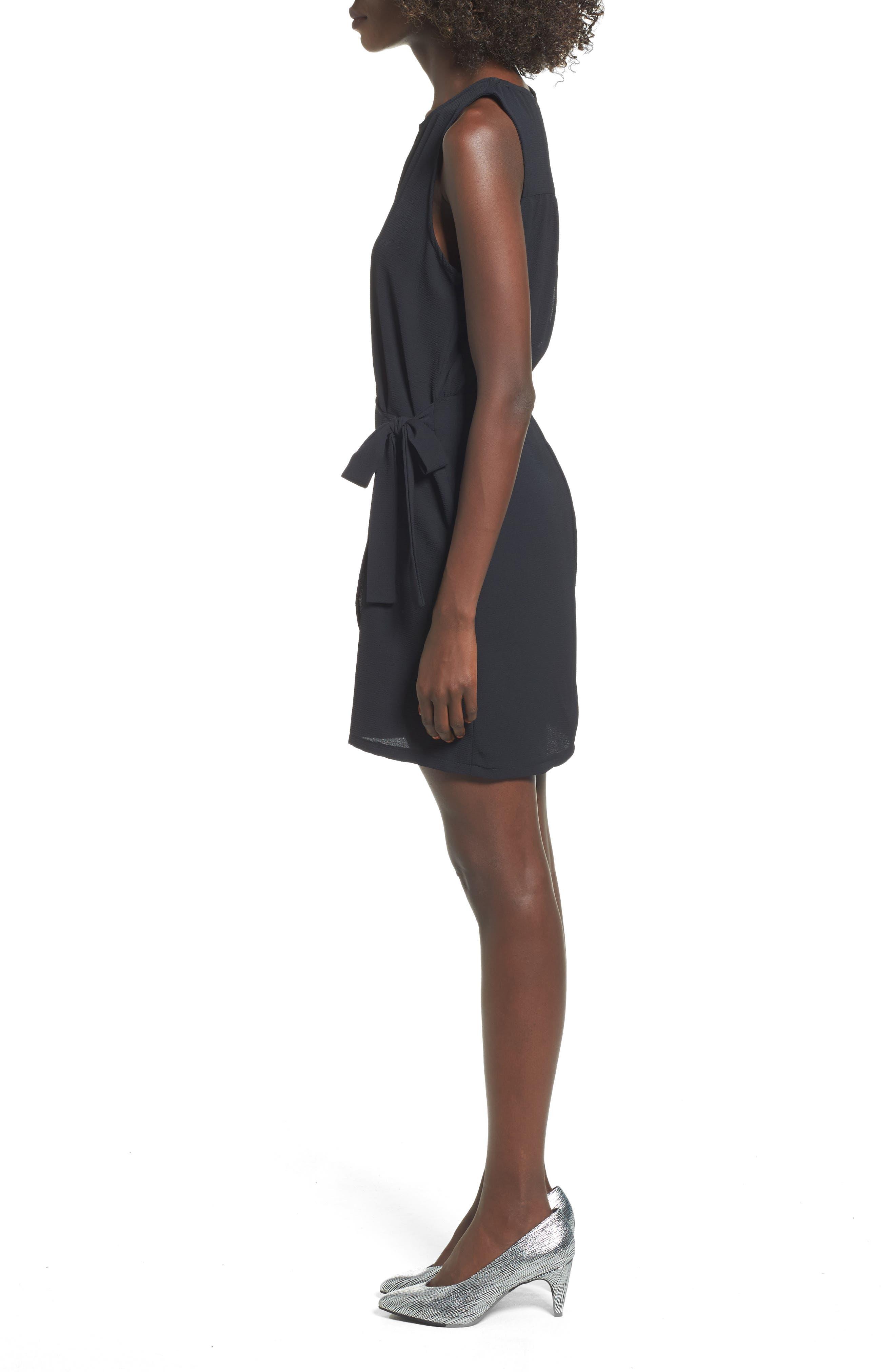 Wrap Skirt Dress,                             Alternate thumbnail 3, color,                             001