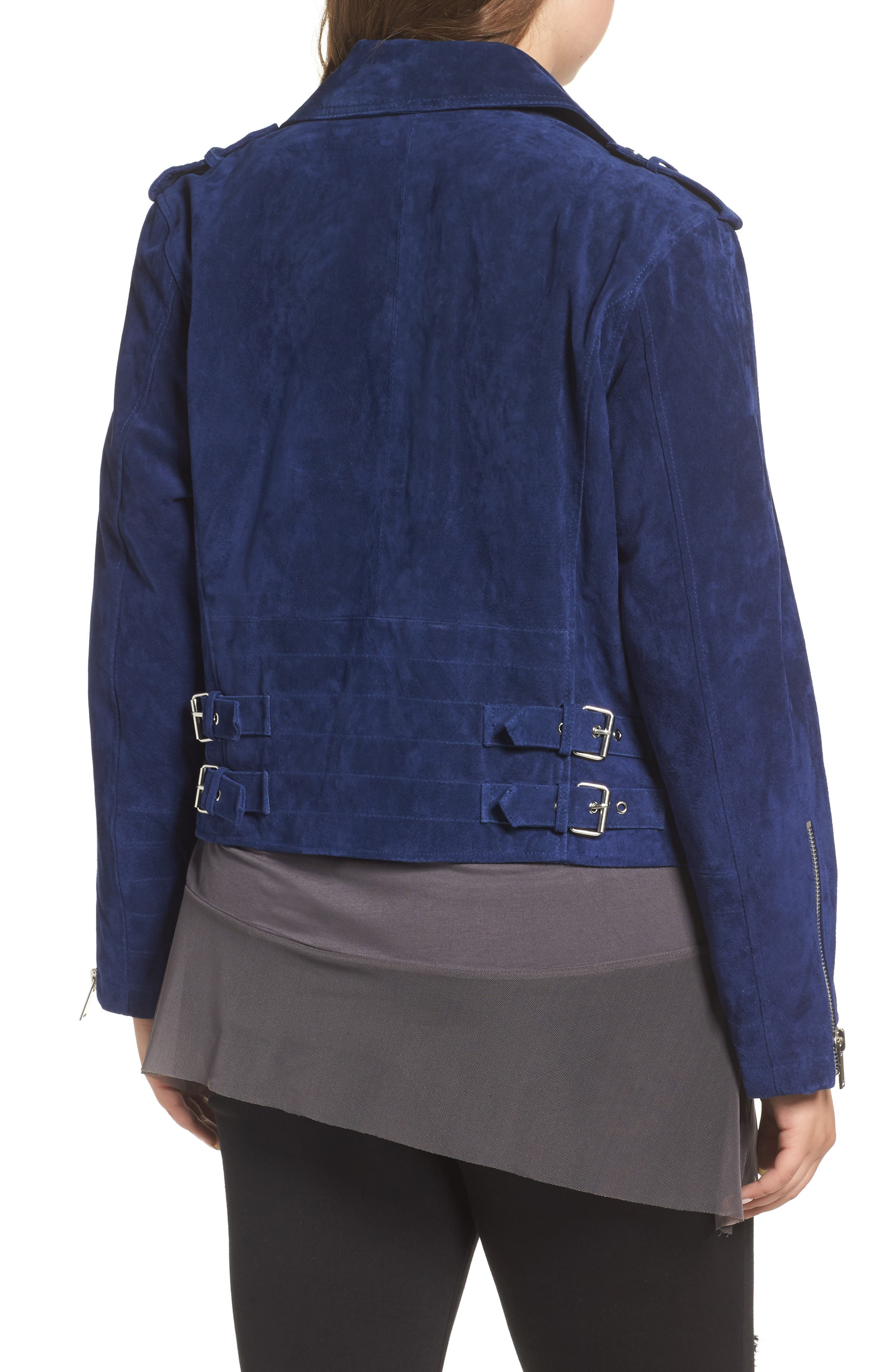 Suede Moto Jacket,                             Alternate thumbnail 6, color,