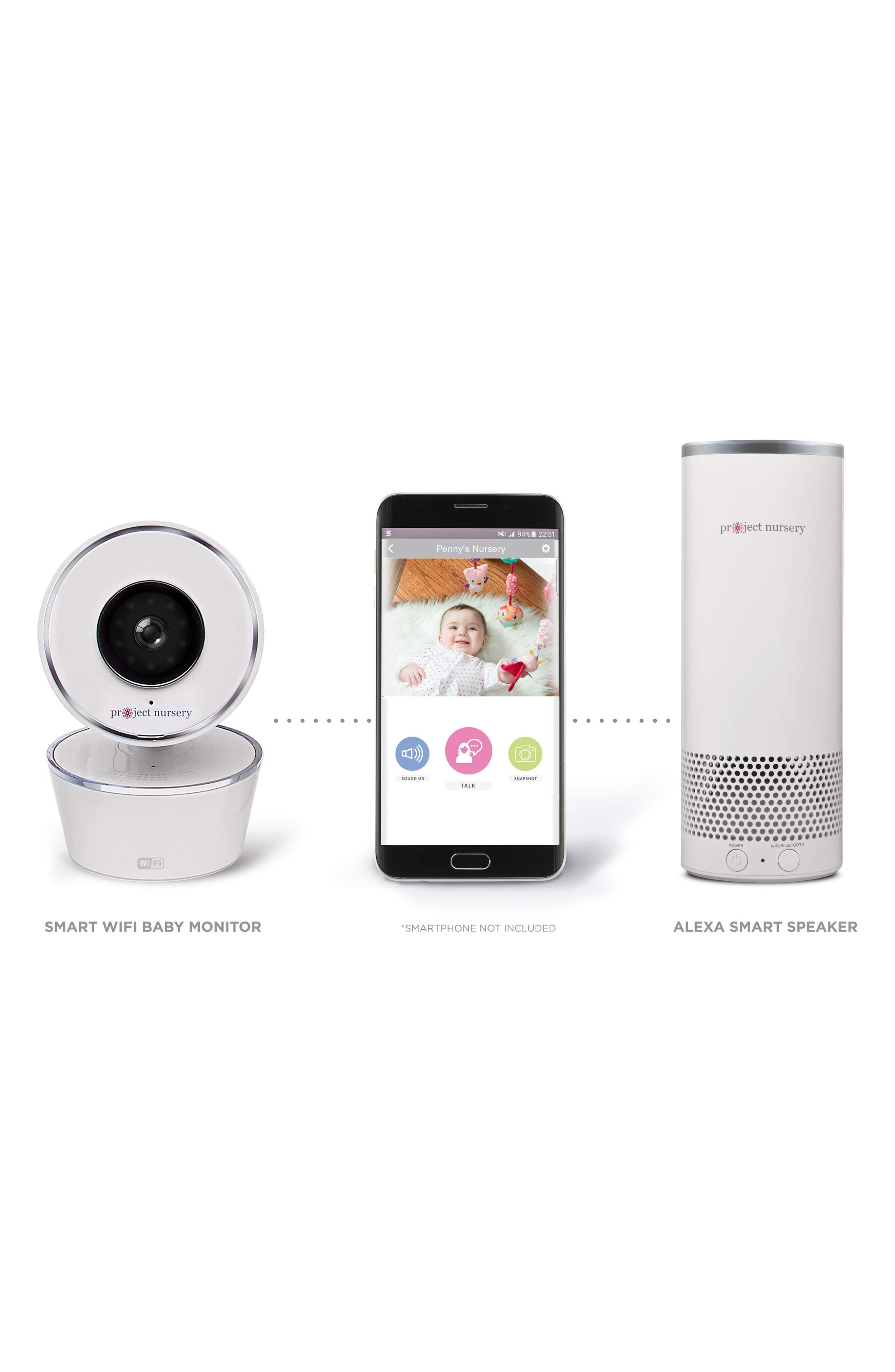 Smart Baby Monitor System,                             Alternate thumbnail 2, color,                             WHITE