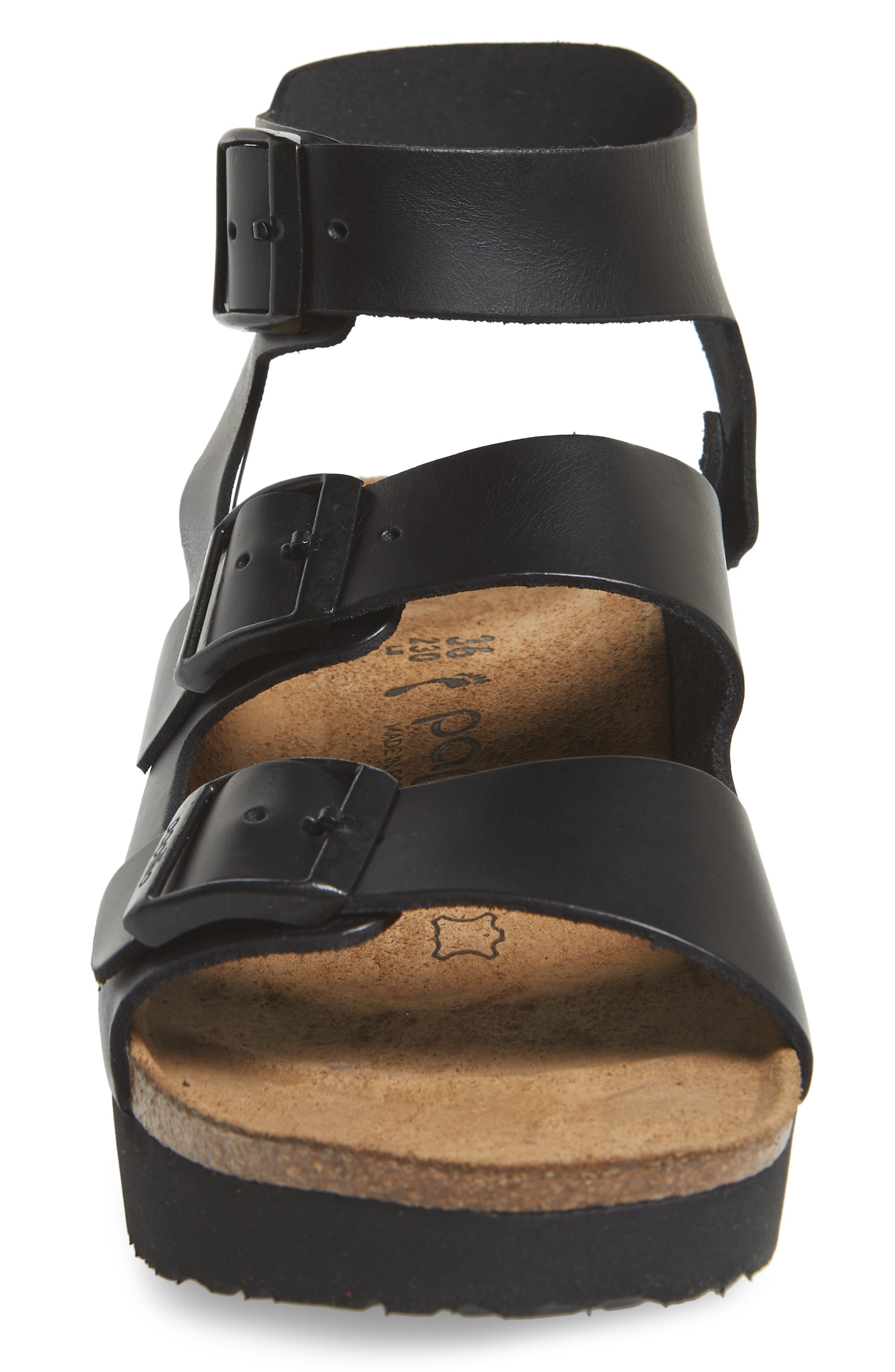 Papillio by Birkenstock Linnea Platform Sandal,                             Alternate thumbnail 4, color,                             001