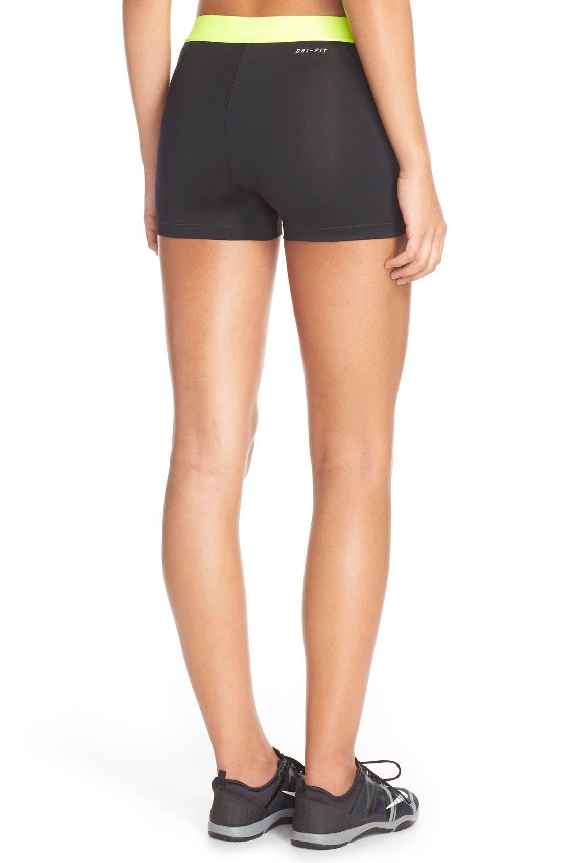 NIKE,                             'Pro' Dri-FIT Shorts,                             Alternate thumbnail 3, color,                             012