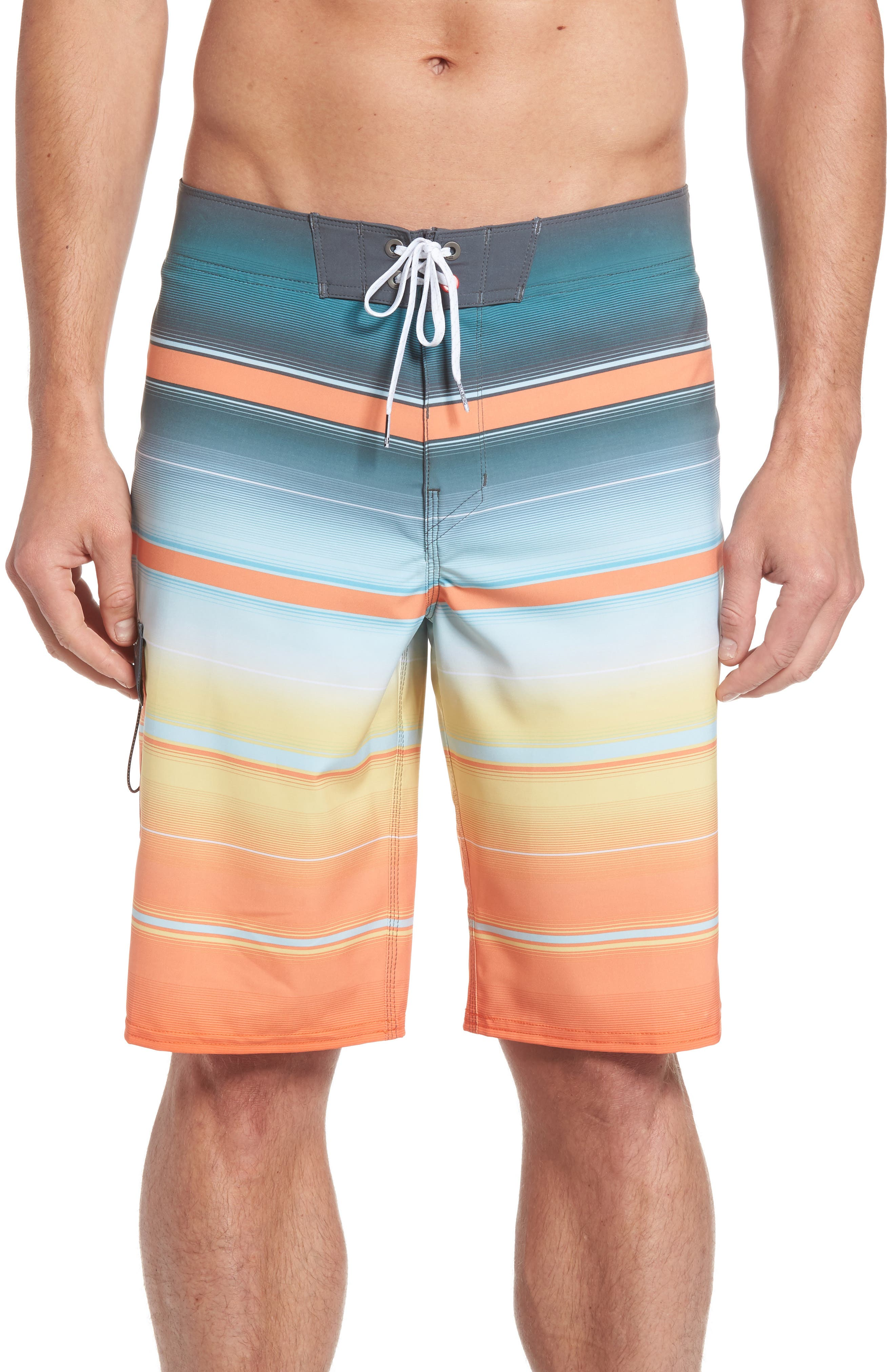 All Day X Stripe Board Shorts,                             Main thumbnail 5, color,