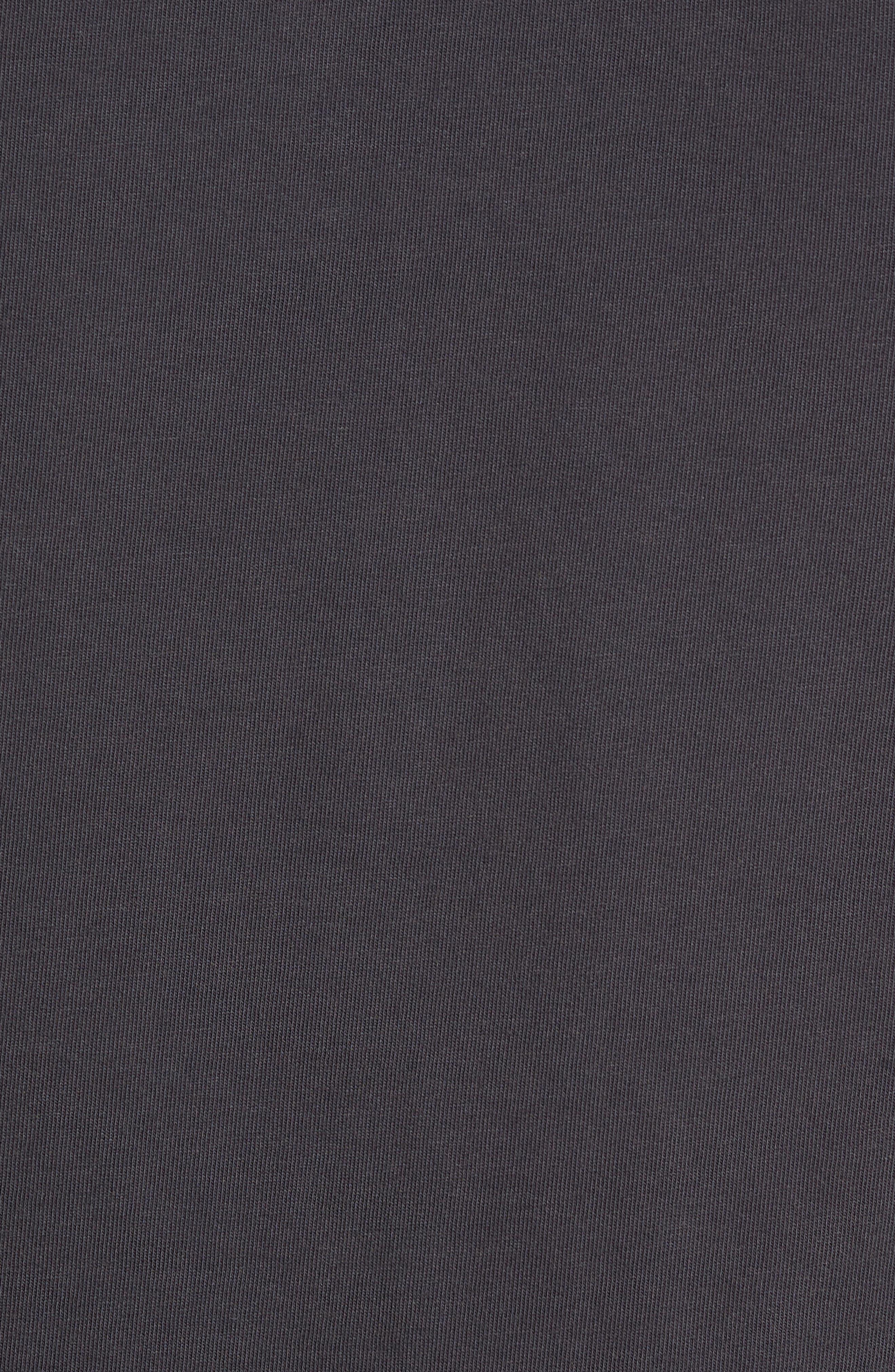 Regular Fit Garment Dye Short Sleeve Henley,                             Alternate thumbnail 5, color,                             WASHED BLACK