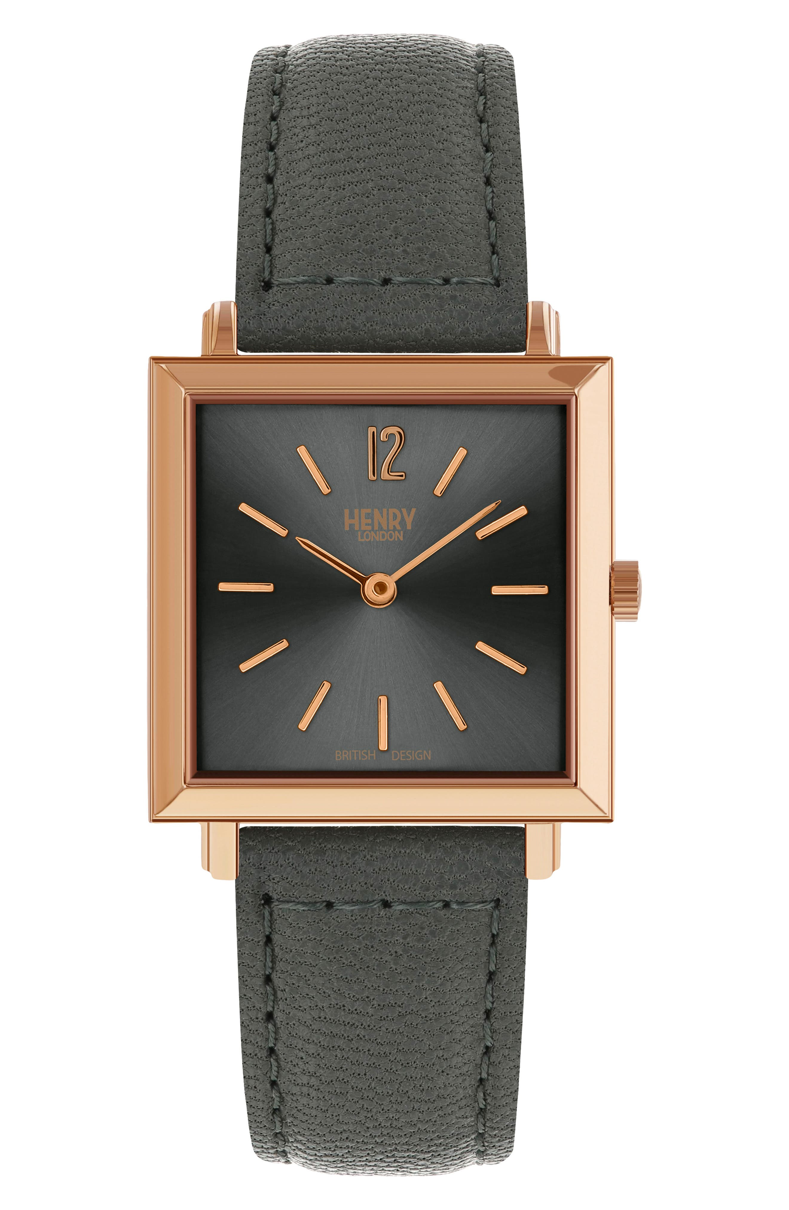 Heritage Leather Strap Watch, 26mm,                         Main,                         color, 020