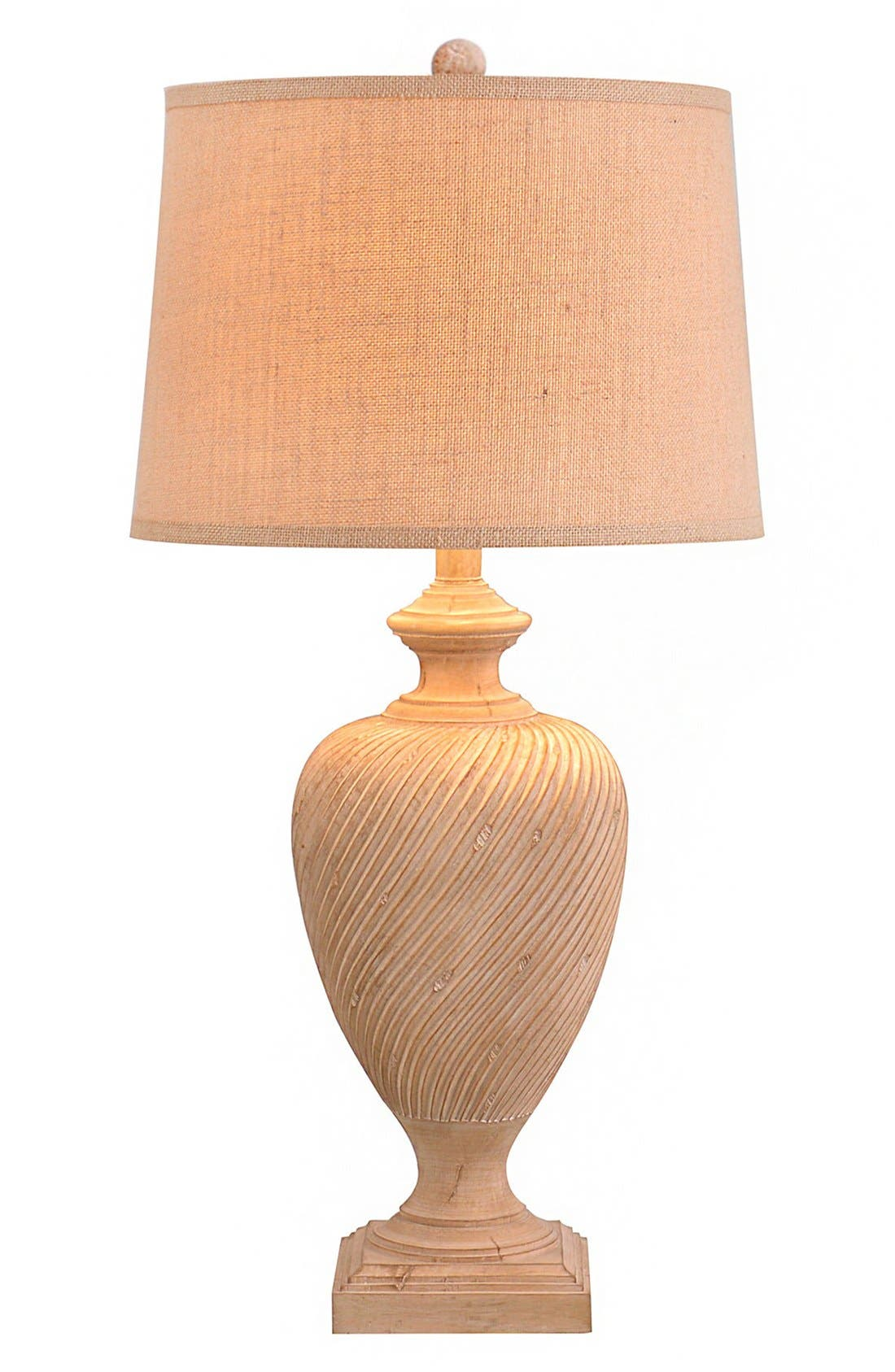JALEXANDER LIGHTING,                             JAlexander Scroll Engraved Resin Table Lamp,                             Main thumbnail 1, color,                             250