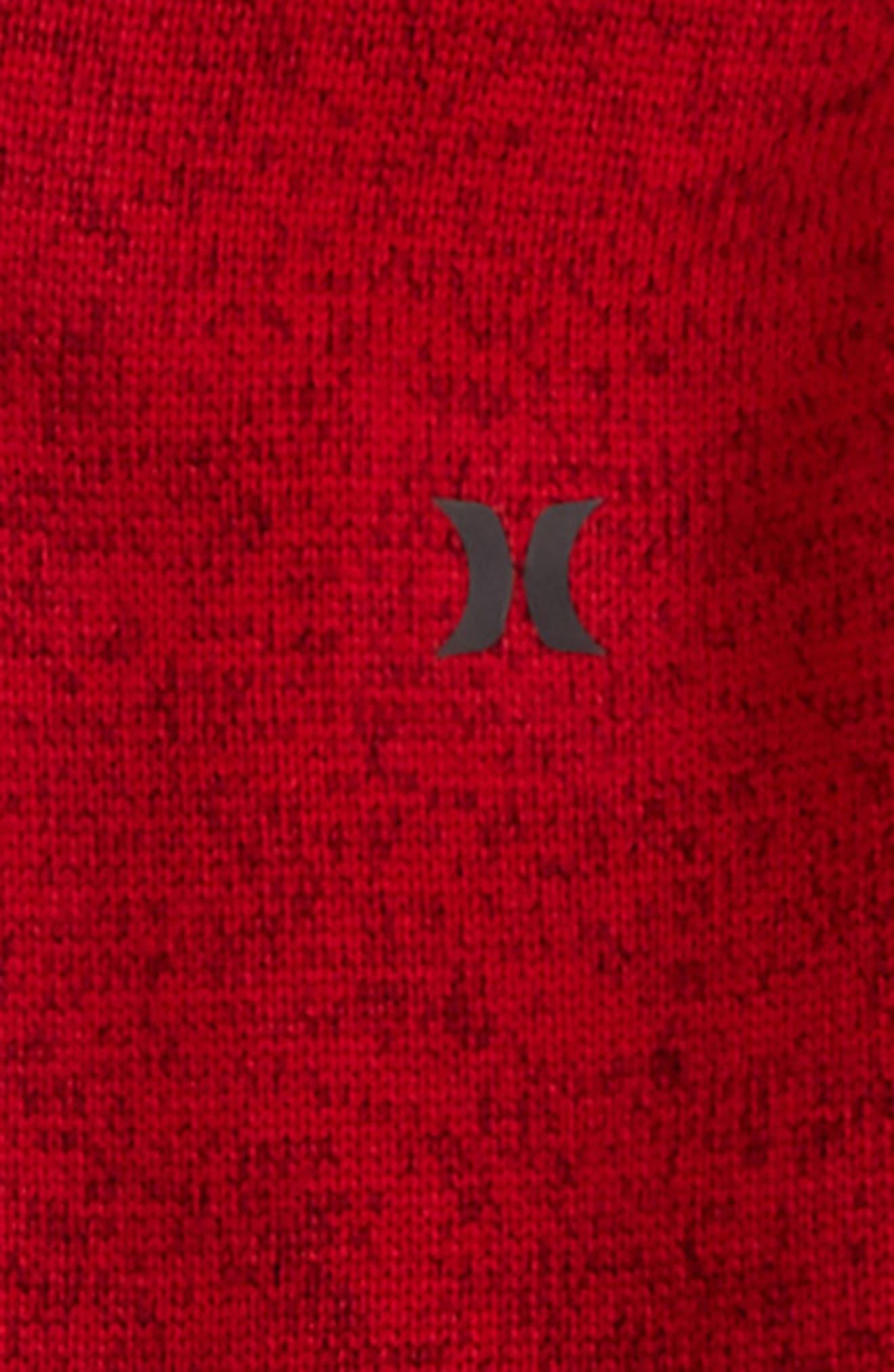 Knit Fleece Zip Hoodie,                             Alternate thumbnail 4, color,
