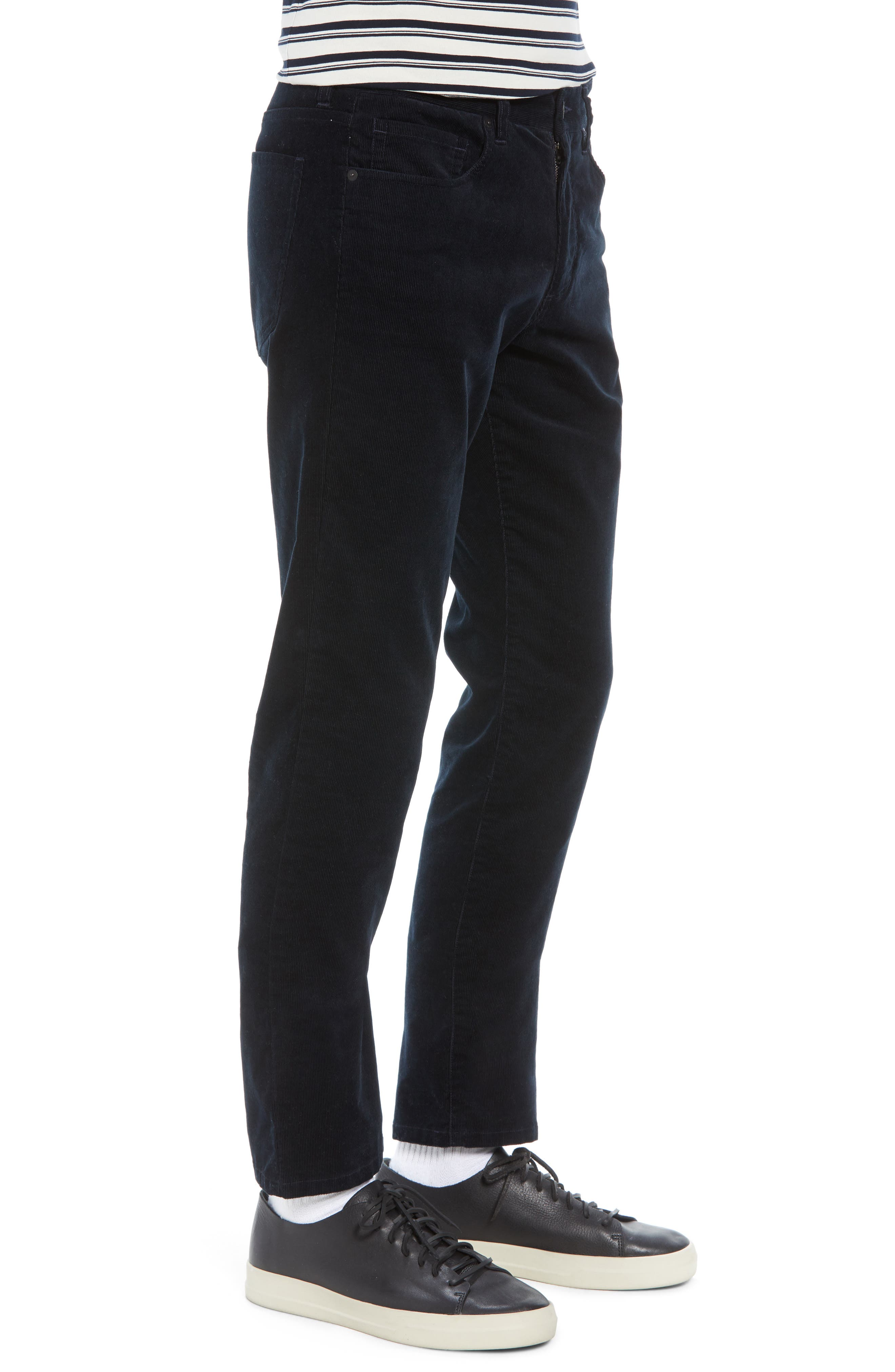 Dylan Slim Fit Corduroy Pants,                             Alternate thumbnail 3, color,                             001