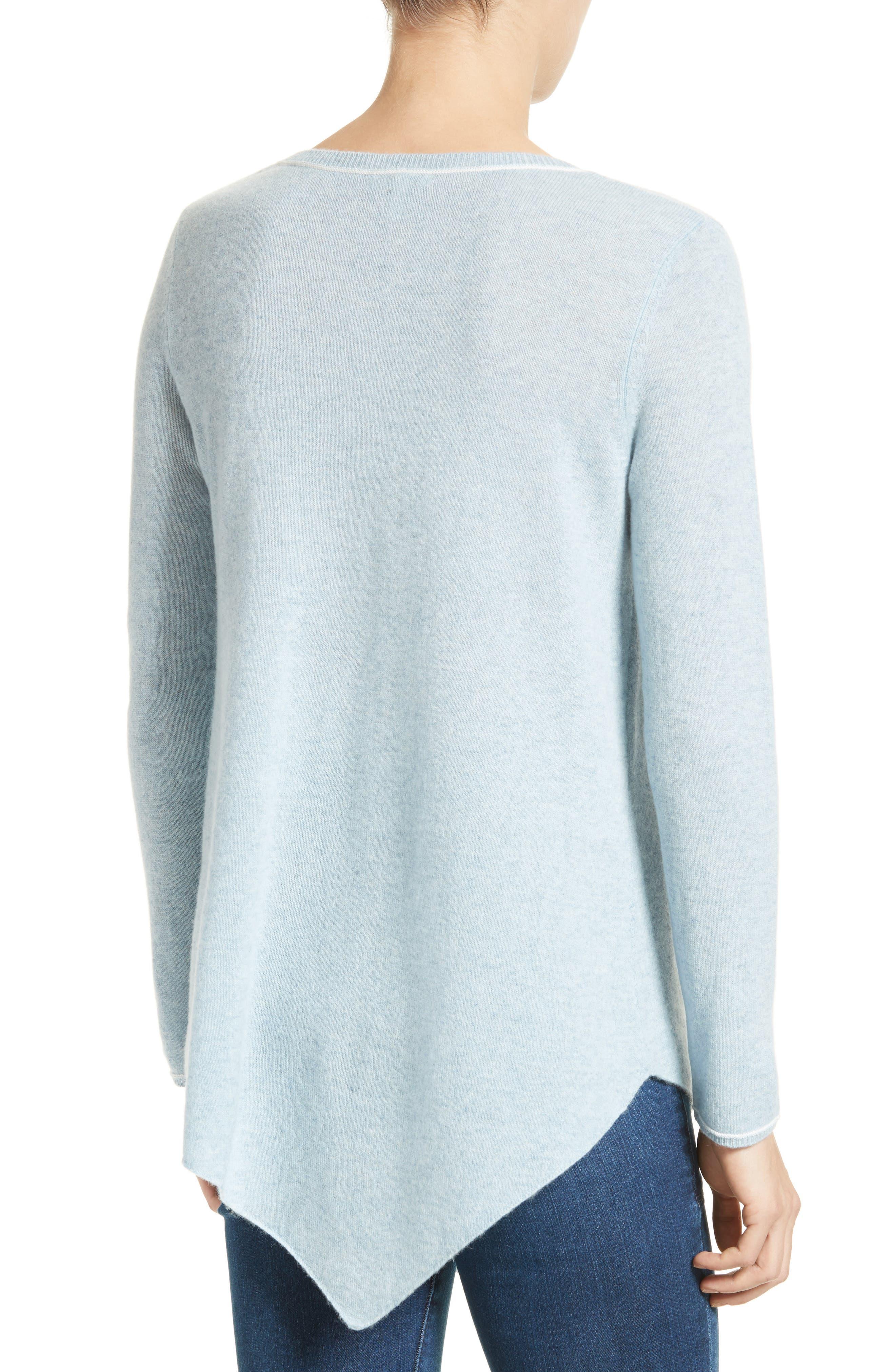 Tambrel H Asymmetrical Hem Cashmere Sweater,                             Alternate thumbnail 2, color,                             400
