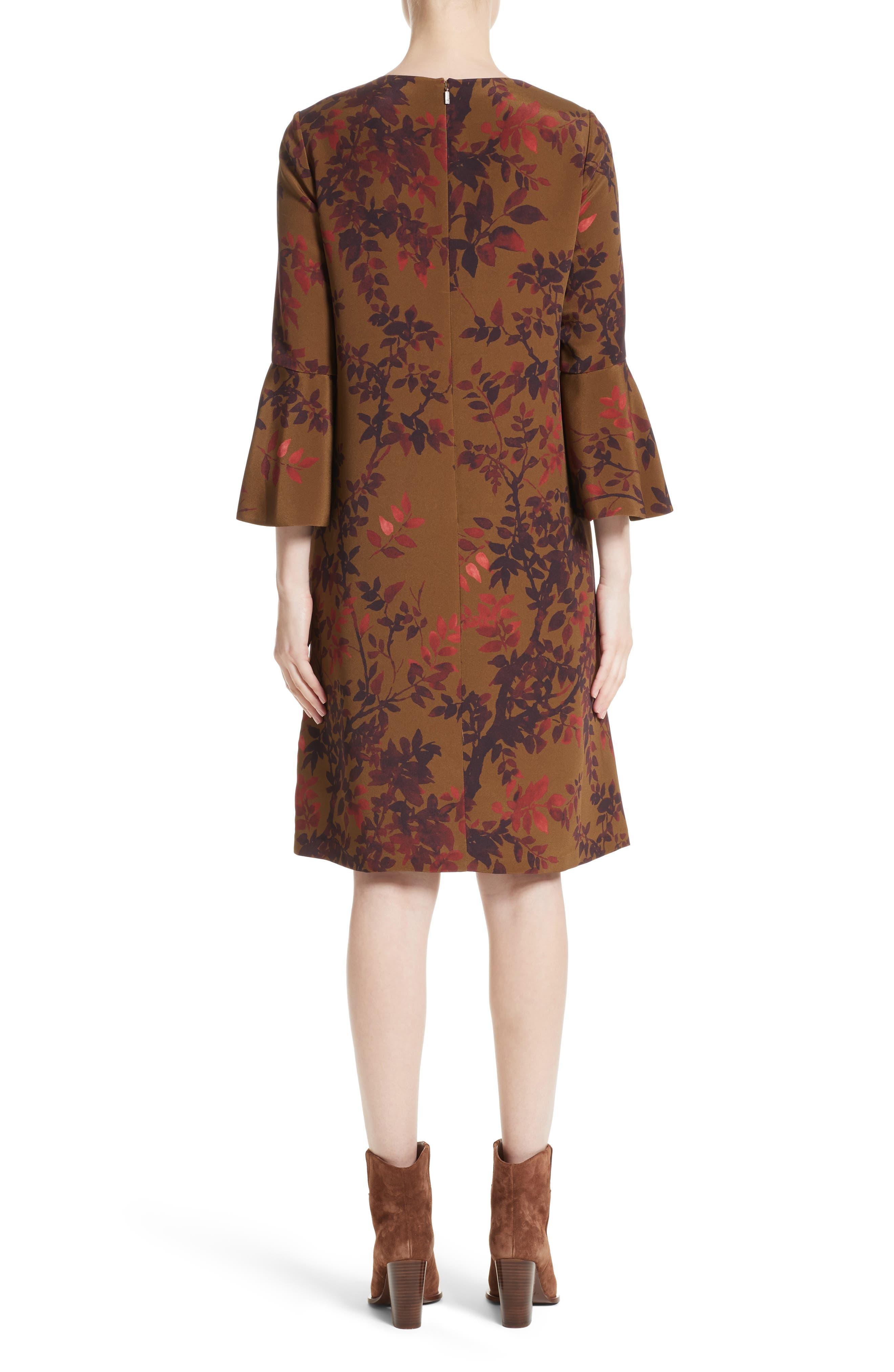 Sidra Floral Print Silk Dress,                             Alternate thumbnail 2, color,                             242
