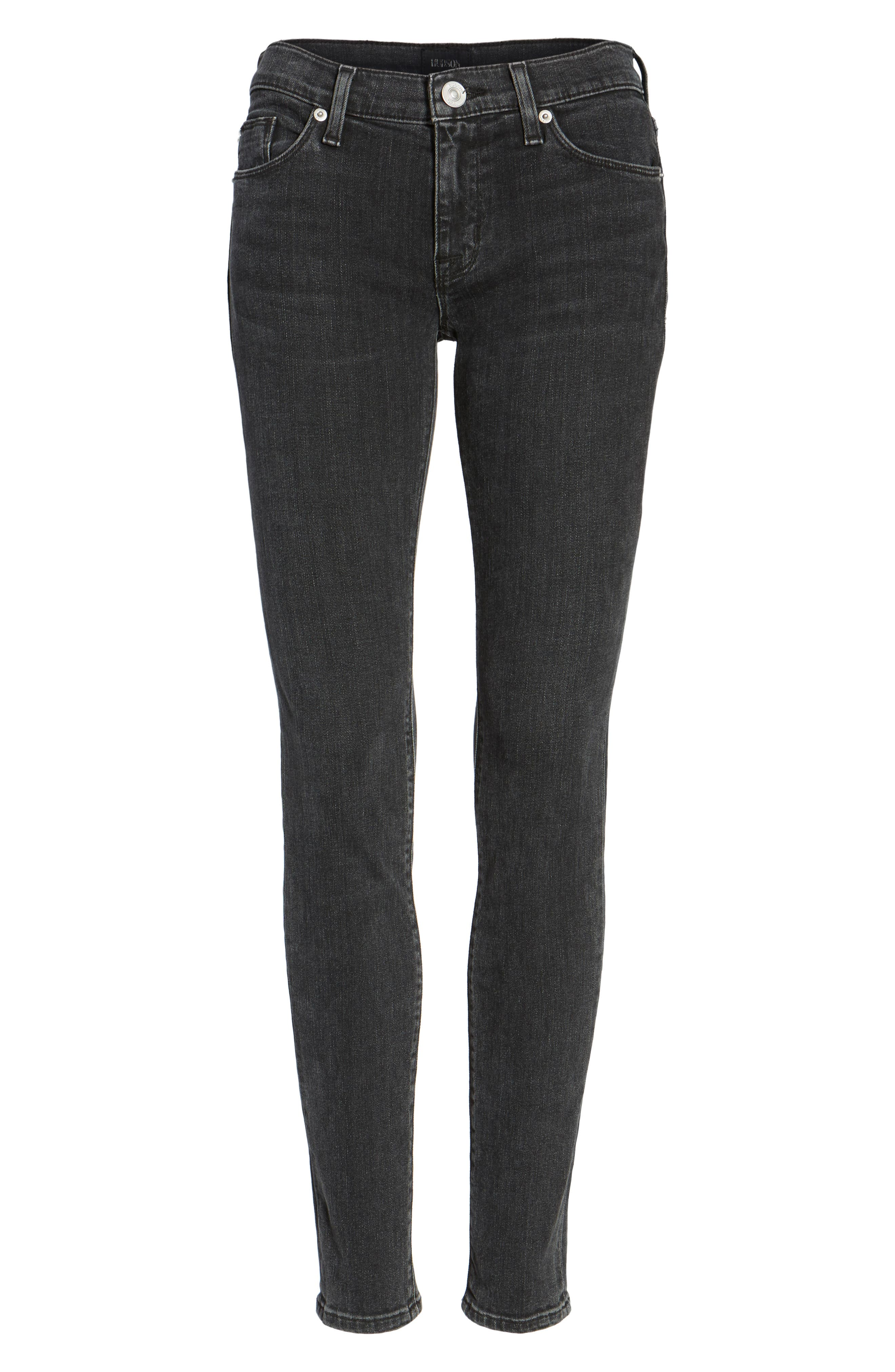 Krista Super Skinny Jeans,                             Alternate thumbnail 6, color,                             001