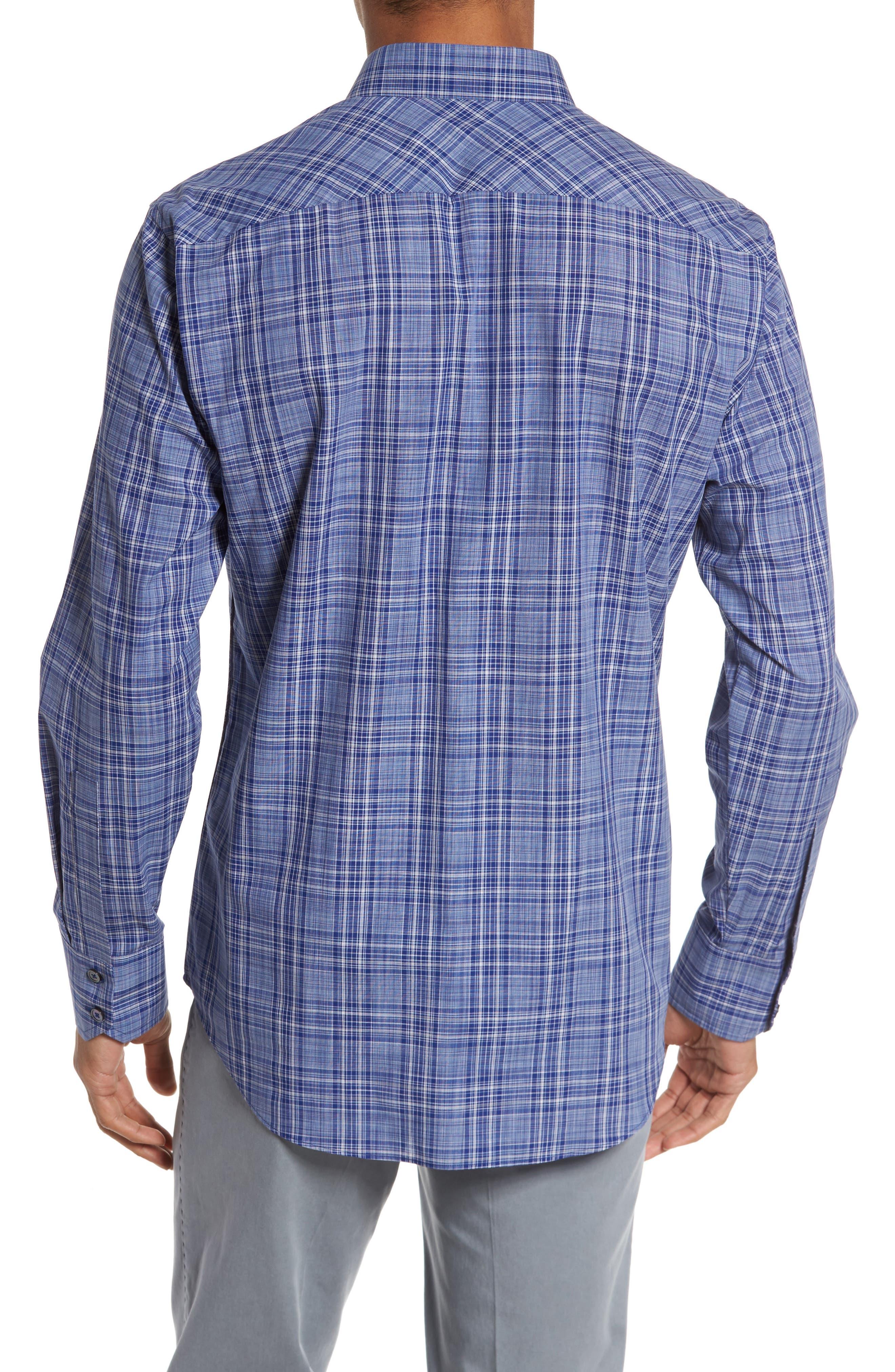 Santos Plaid Sport Shirt,                             Alternate thumbnail 2, color,                             432