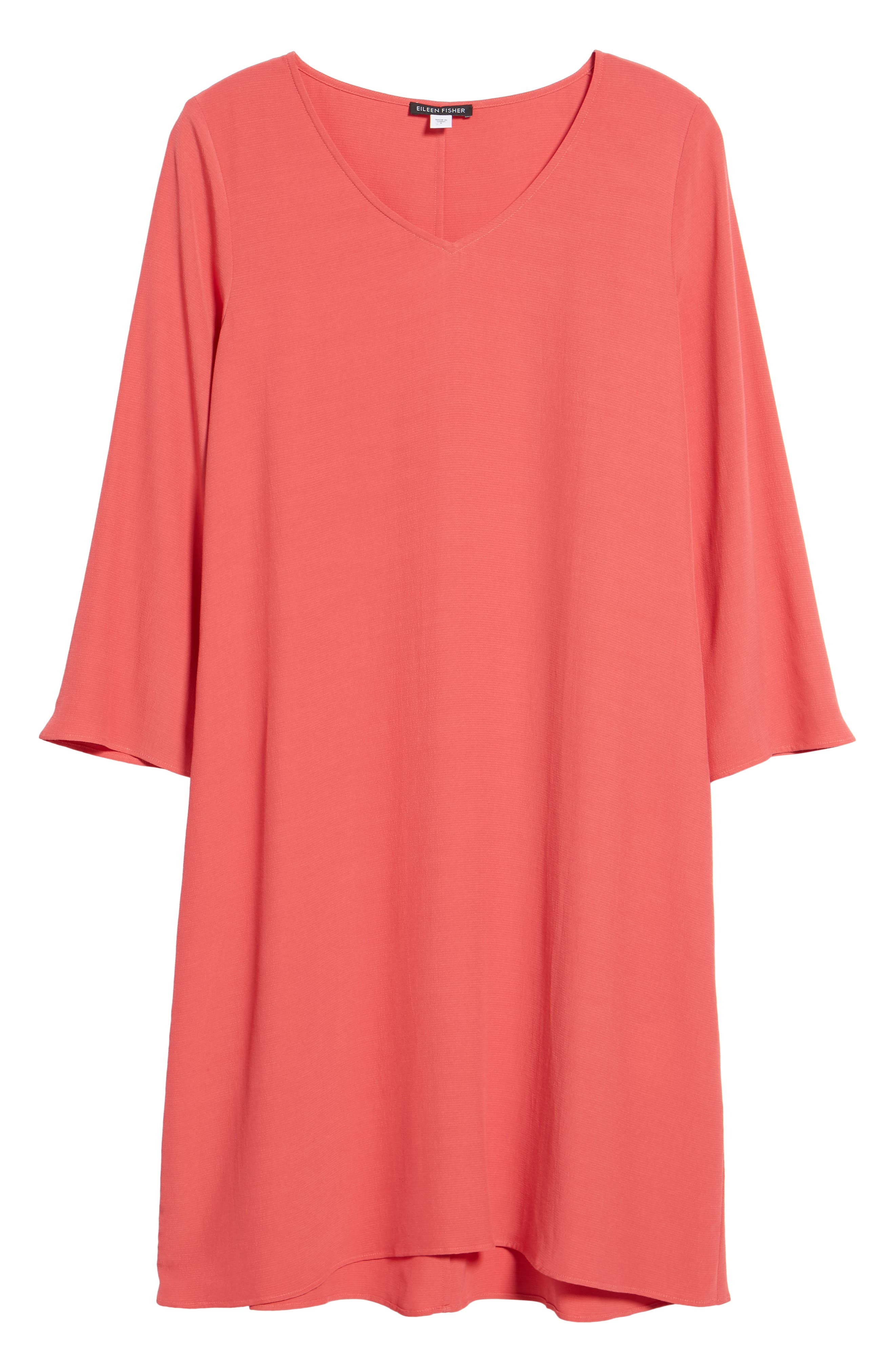 V-Neck Shift Dress,                             Alternate thumbnail 12, color,