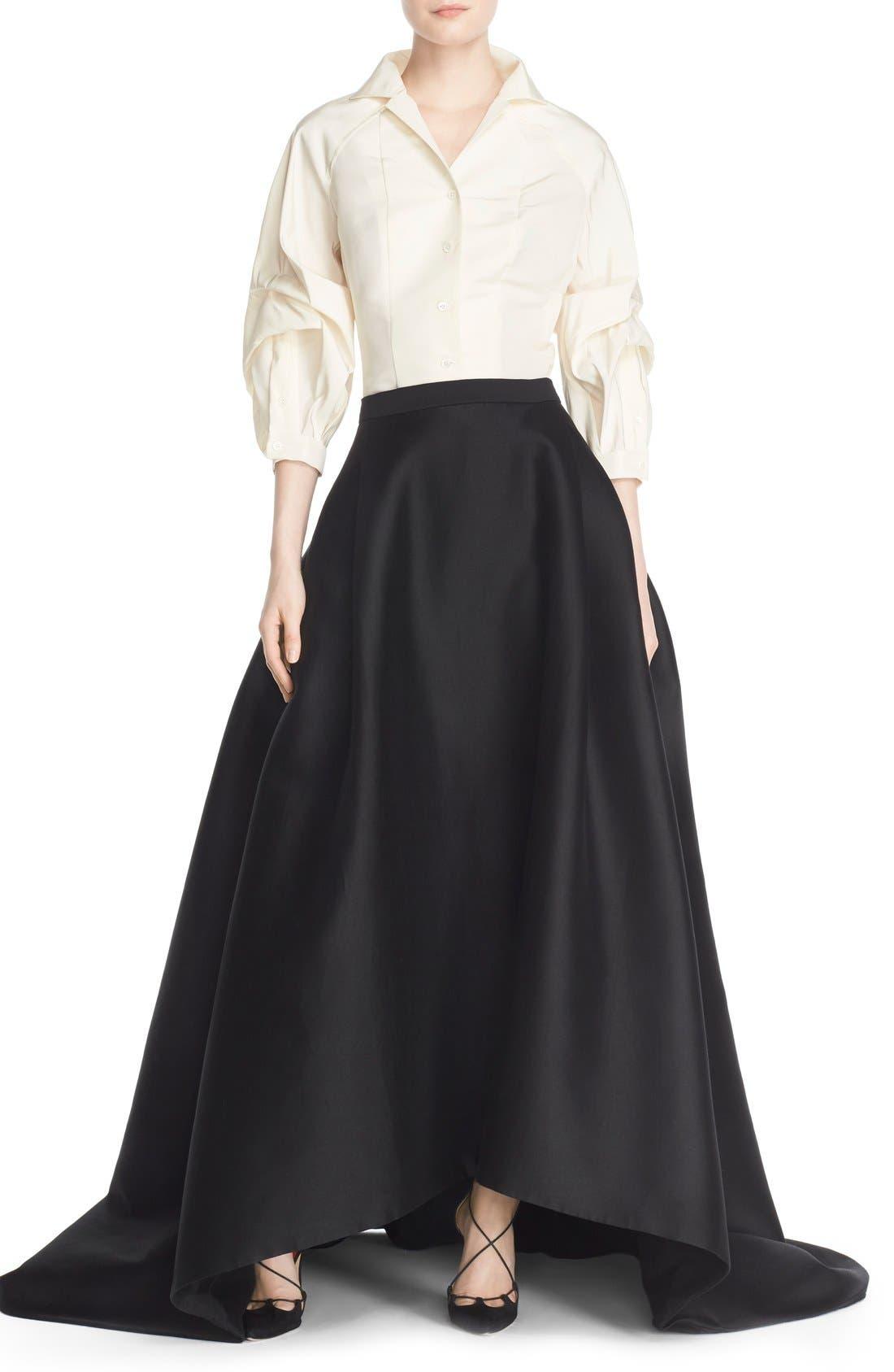 Full Length Evening Skirt,                             Alternate thumbnail 4, color,                             001