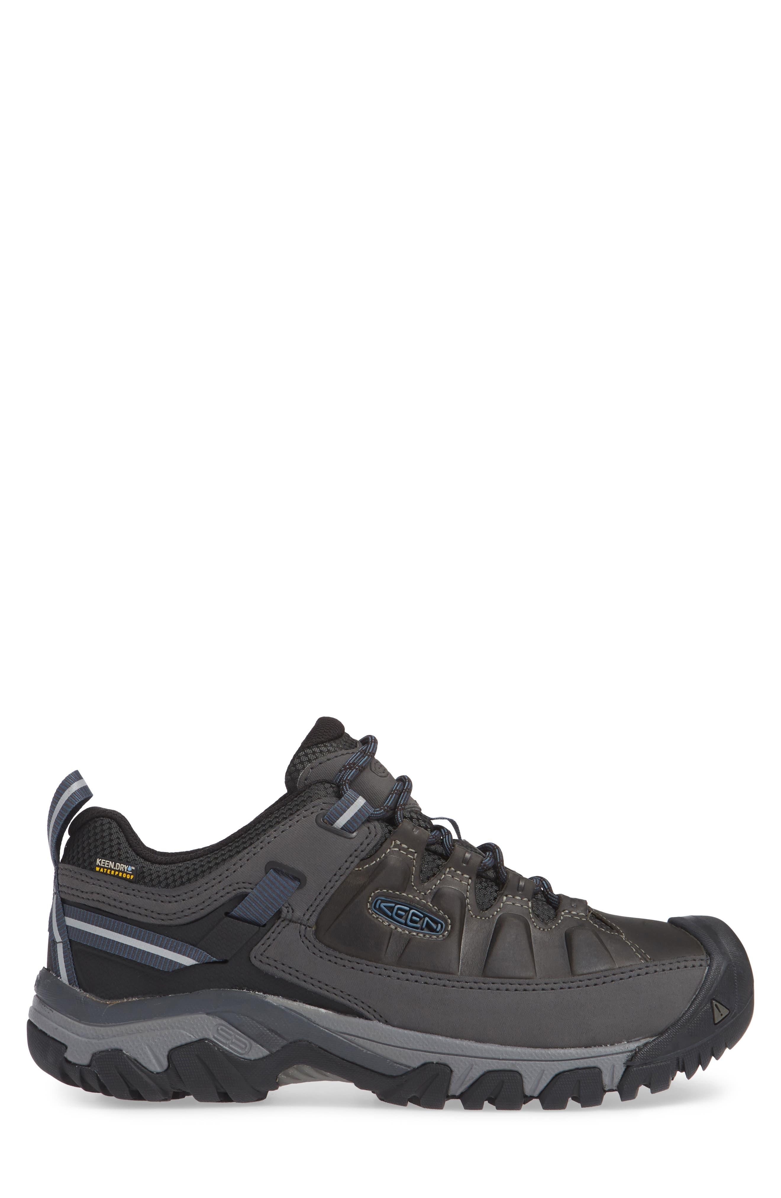 Targhee III Waterproof Hiking Shoe,                             Alternate thumbnail 3, color,                             STEEL GREY/ CAPTAINS BLUE