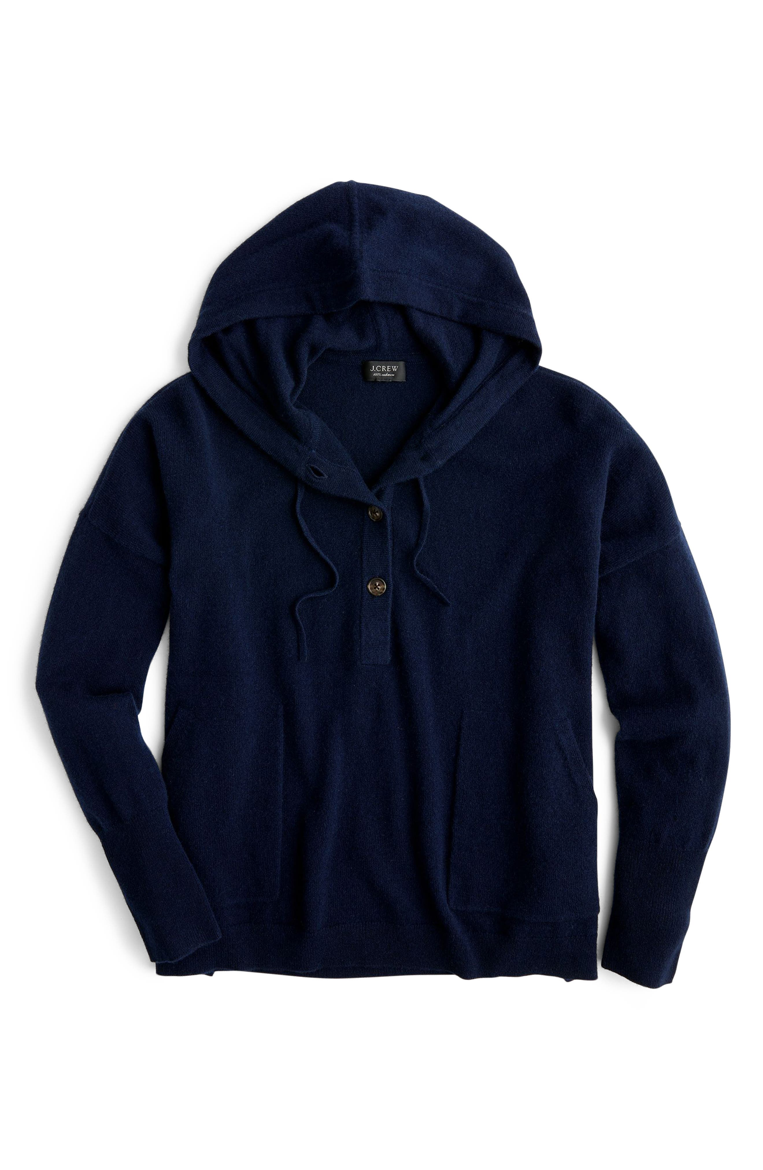 Everyday Cashmere Hoodie Sweater,                             Alternate thumbnail 5, color,                             460