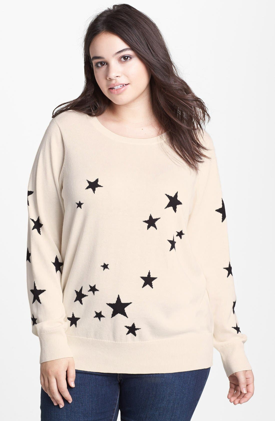 Intarsia Crewneck Sweater,                             Main thumbnail 5, color,