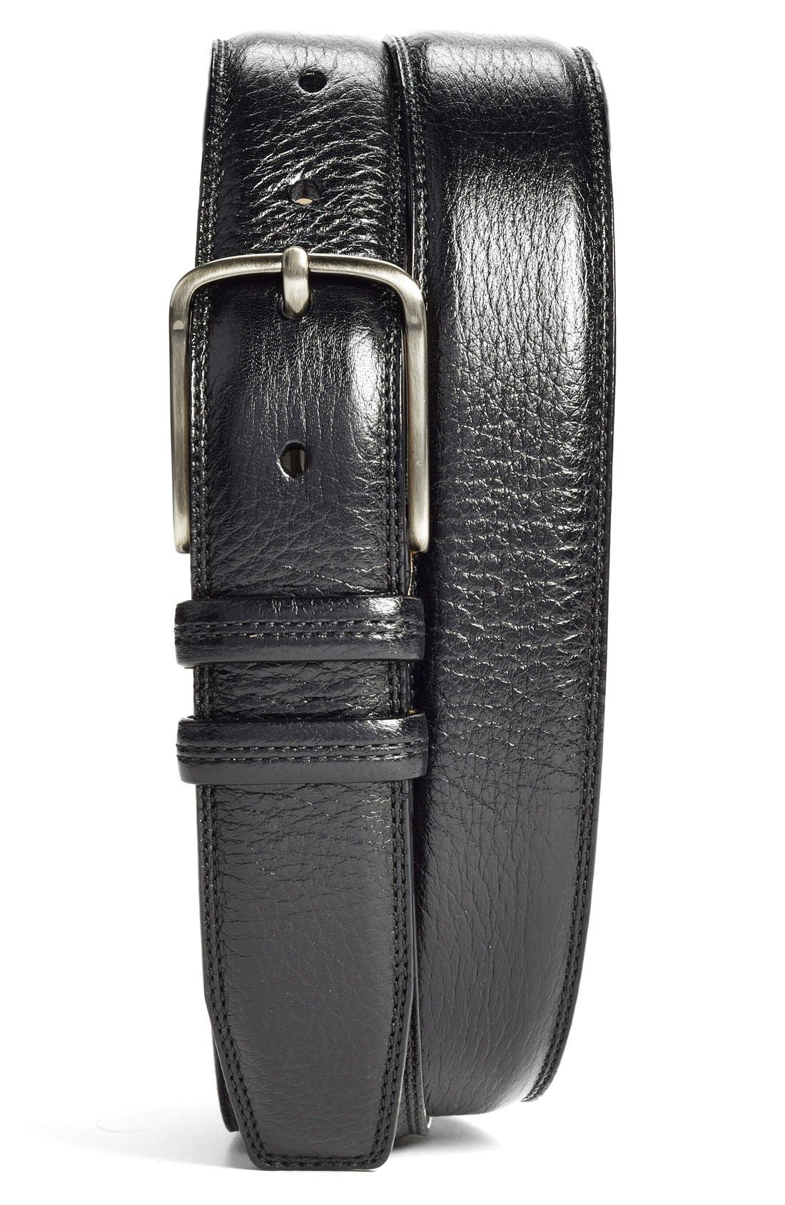 Deerskin Belt,                             Main thumbnail 1, color,                             001