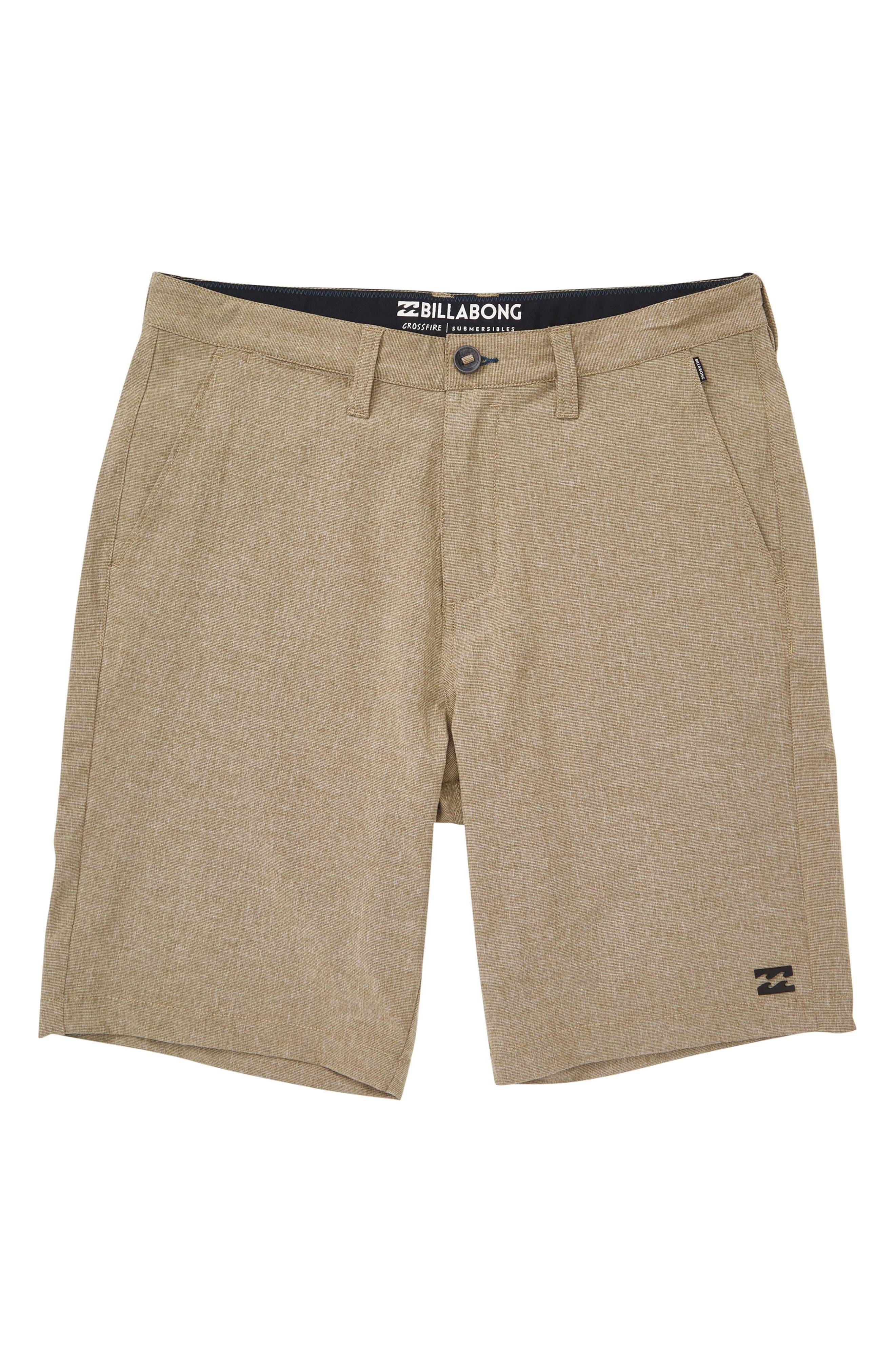 Boys Billabong Crossfire X Hybrid Shorts Size 26  Beige