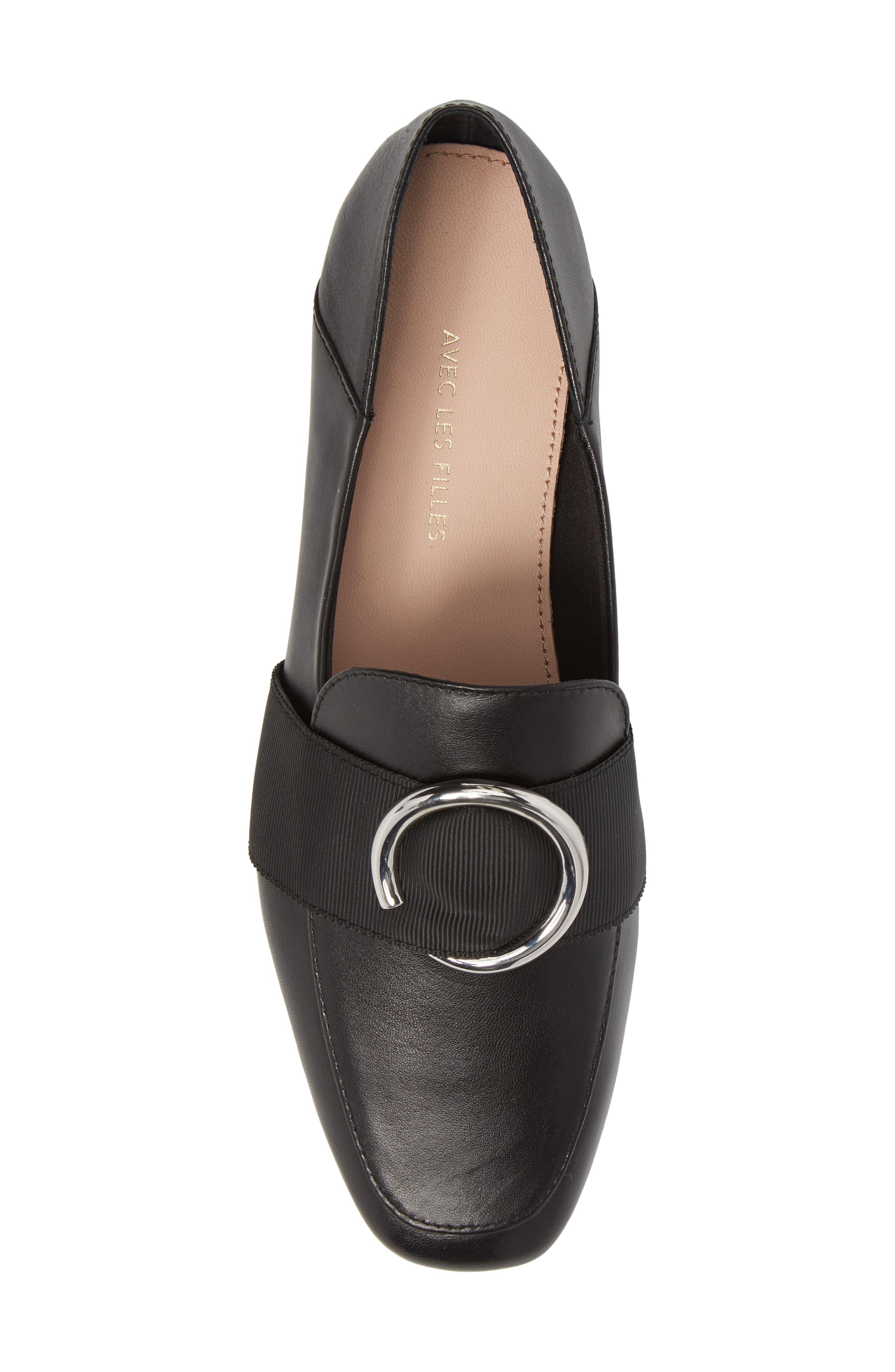Ilani Convertible Slip Ring Loafer,                             Alternate thumbnail 5, color,                             001