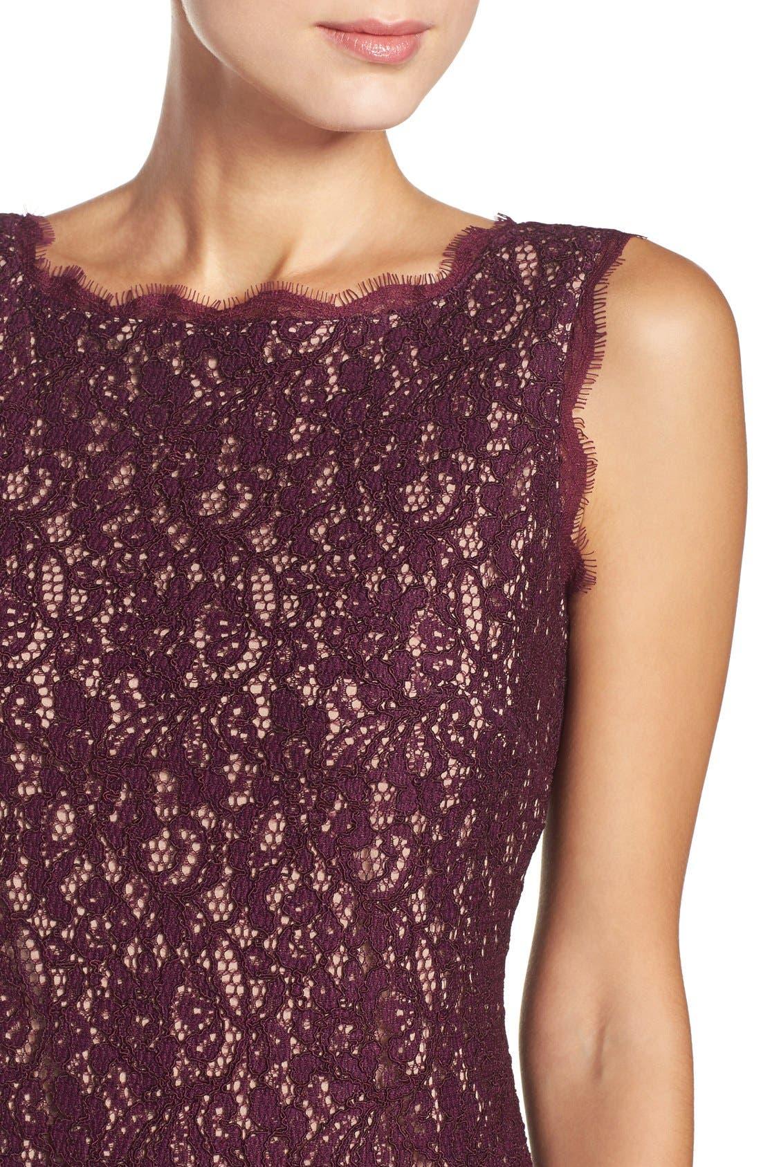 Boatneck Lace Sheath Dress,                             Alternate thumbnail 149, color,