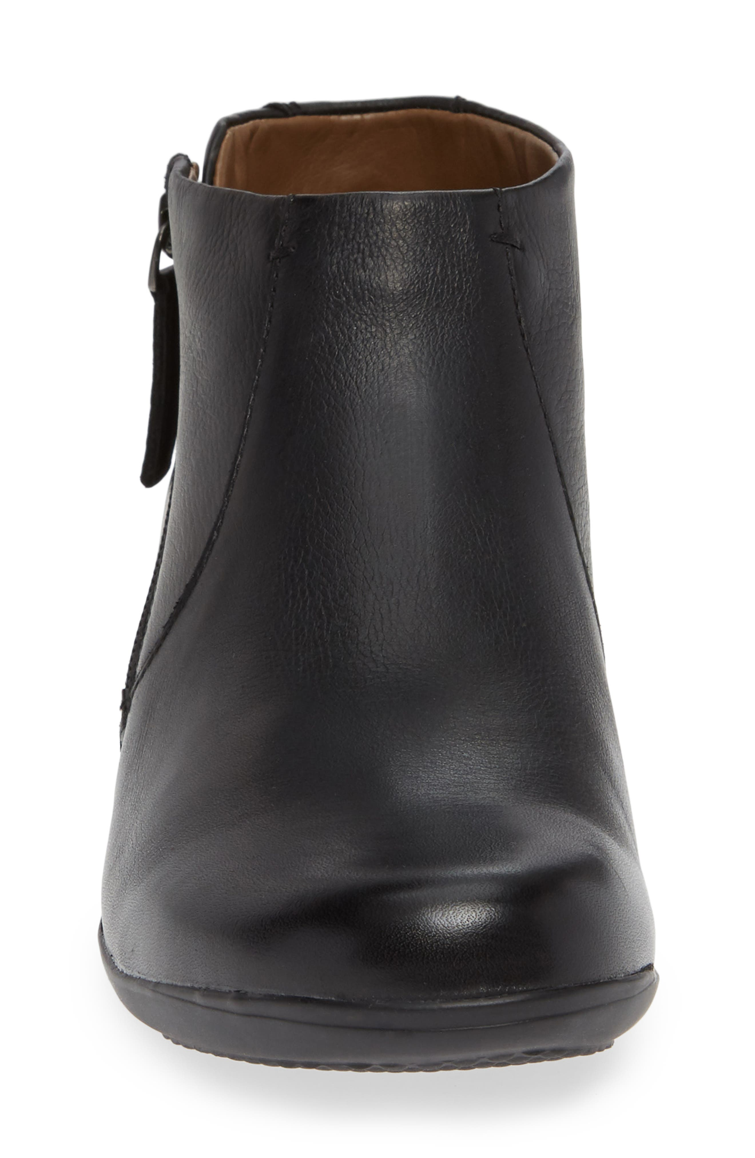 Fifi Bootie,                             Alternate thumbnail 4, color,                             BLACK MILLED LEATHER