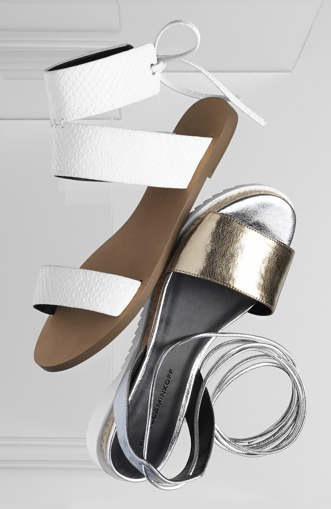 'Emma' Ankle Cuff Sandal,                             Alternate thumbnail 5, color,                             001