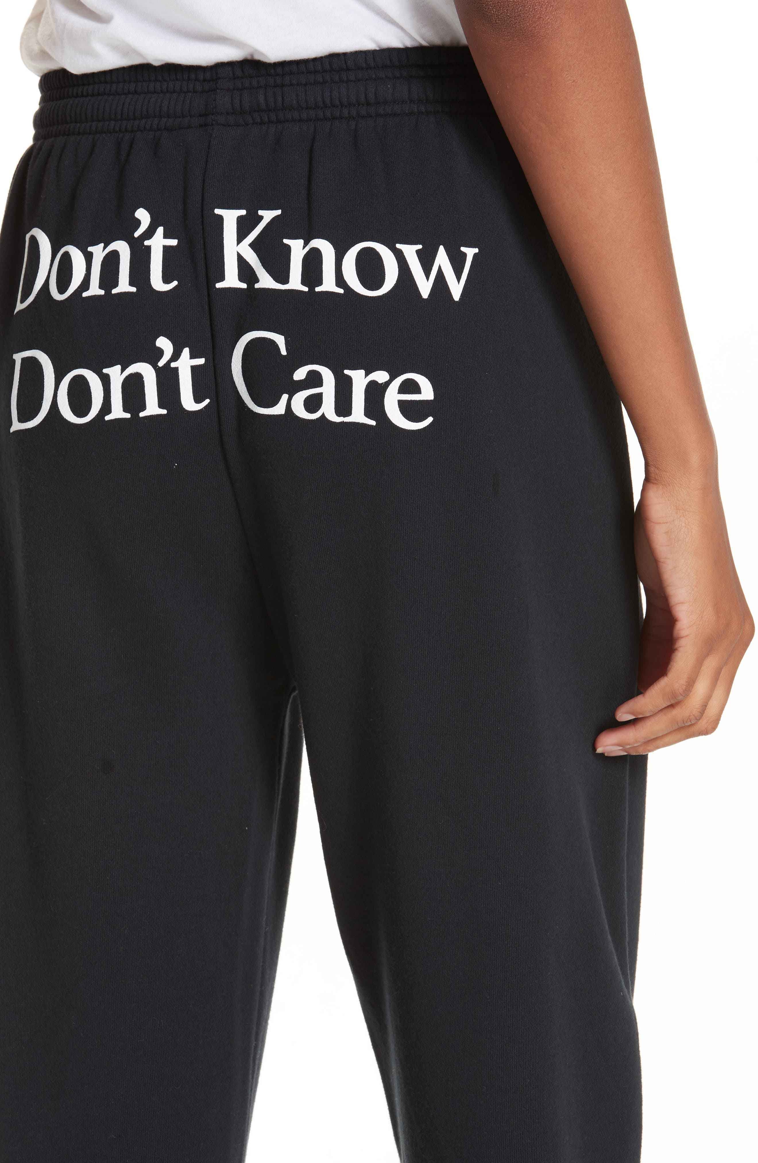 Don't Know Don't Care Jogger Pants,                             Alternate thumbnail 4, color,                             001