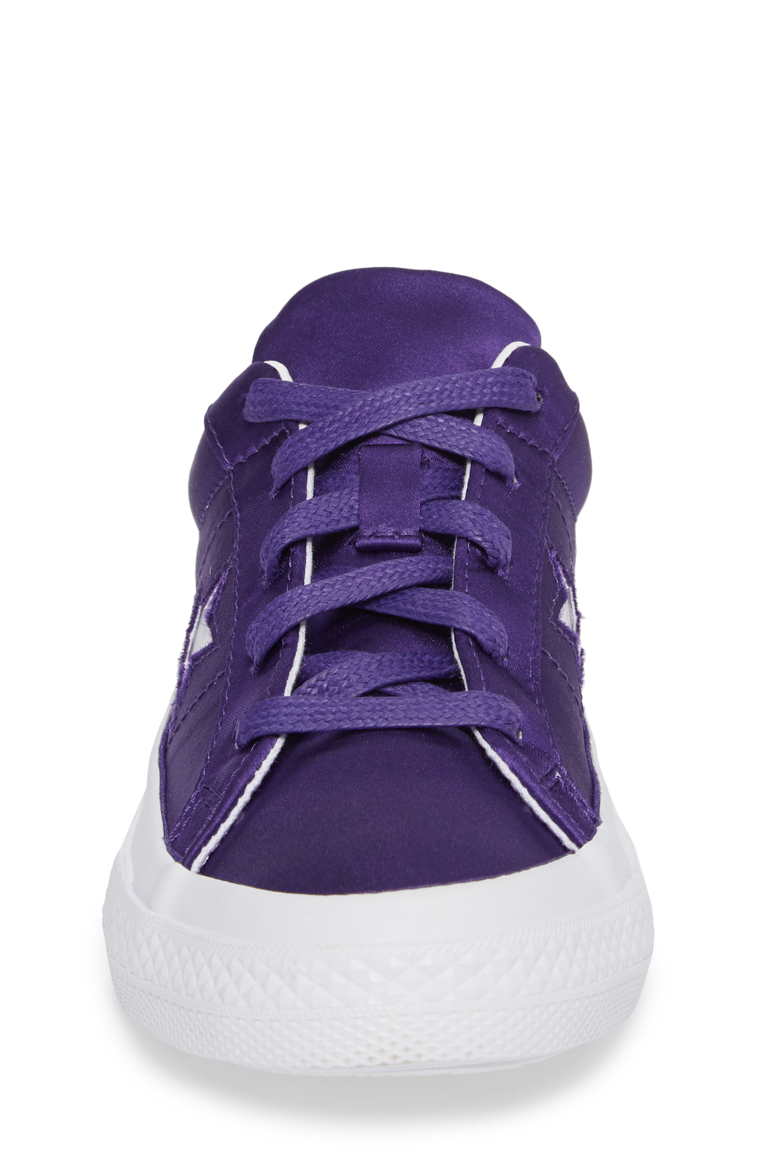 Chuck Taylor<sup>®</sup> All Star<sup>®</sup> One Star Satin Low Top Sneaker,                             Alternate thumbnail 4, color,                             510