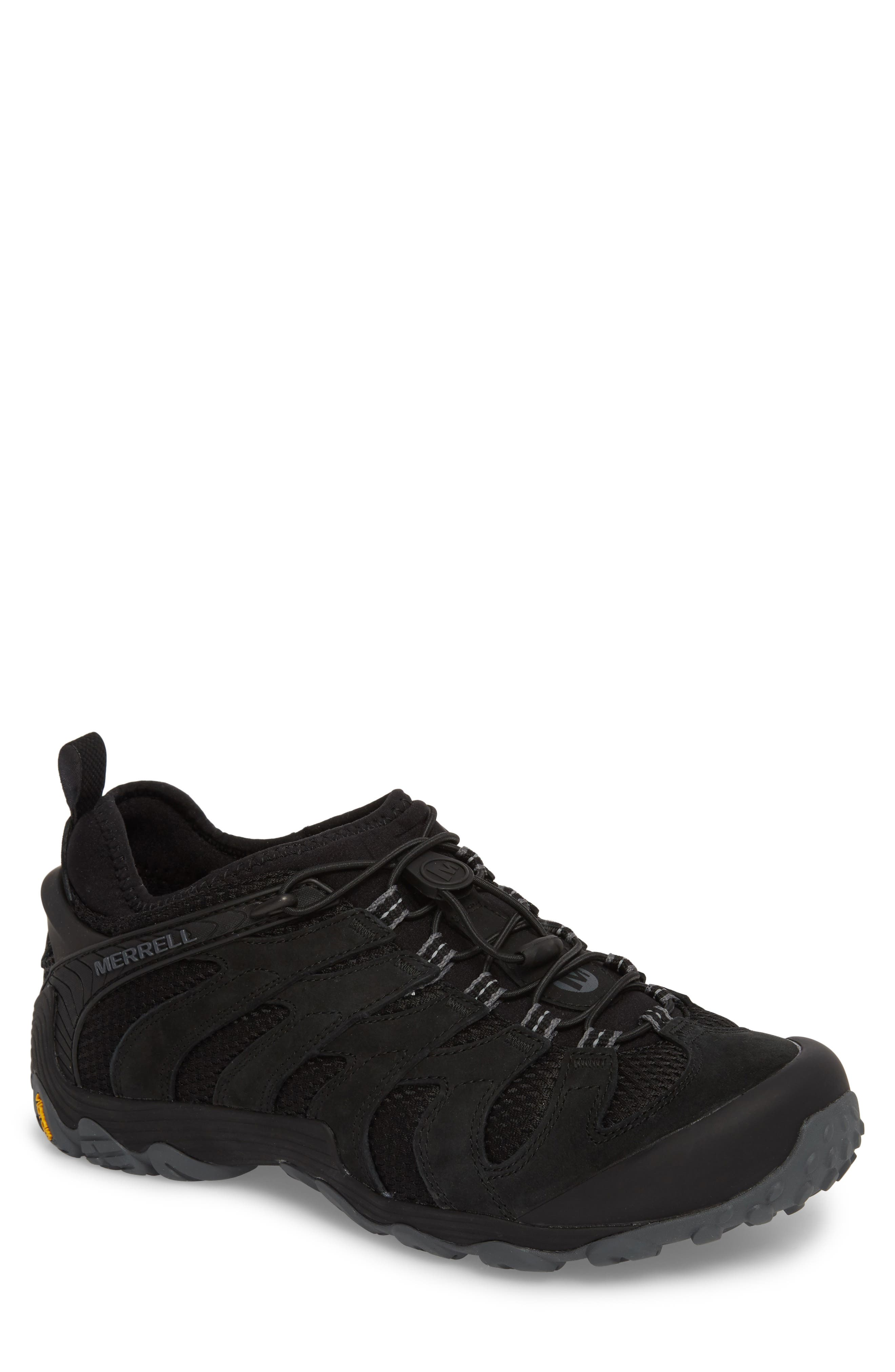 MERRELL,                             Chameleon 7 Stretch Hiking Shoe,                             Main thumbnail 1, color,                             BLACK