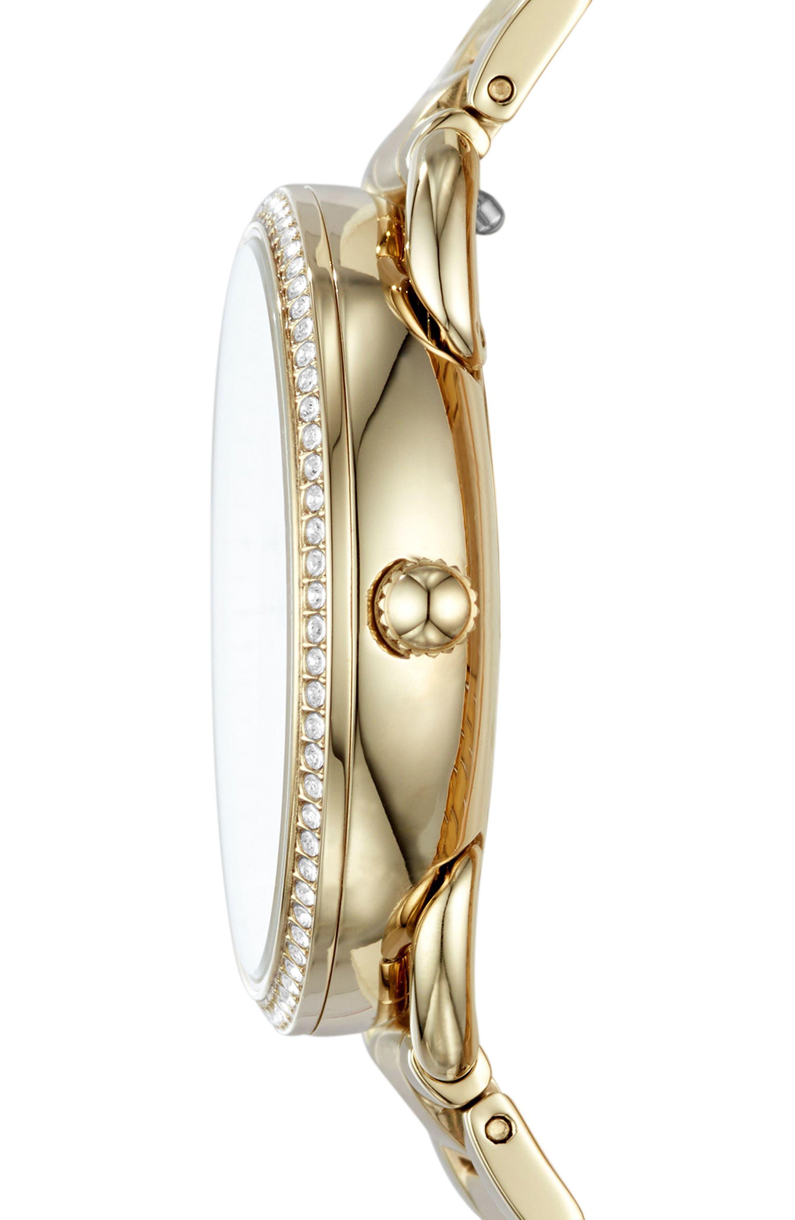 Tailor Crystal Multifunction Bracelet Watch, 35mm,                             Alternate thumbnail 9, color,