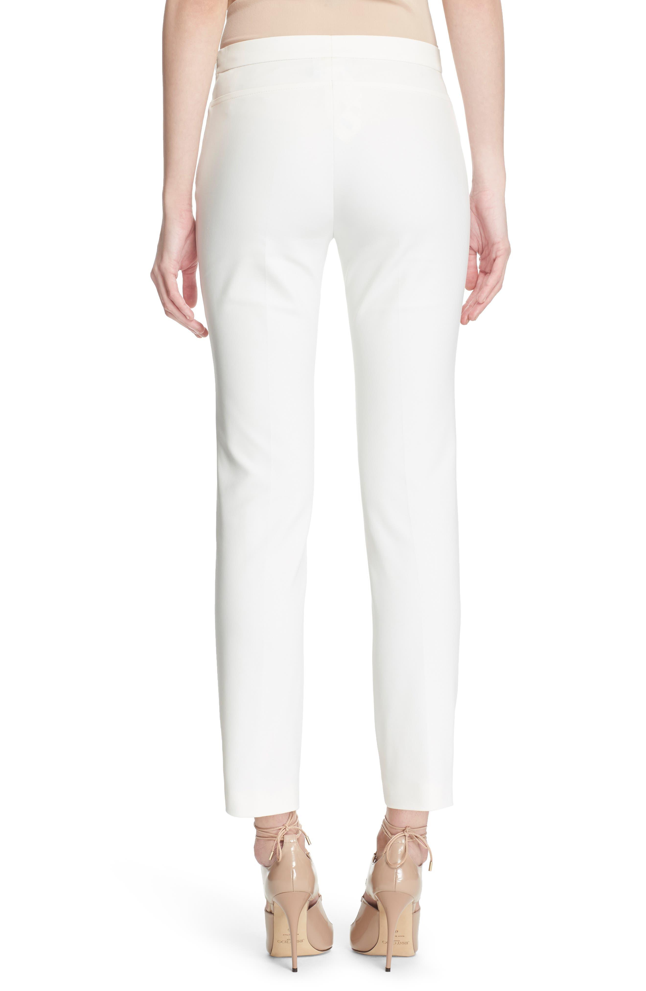'Franca' Techno Cotton Blend Ankle Pants,                             Alternate thumbnail 2, color,                             ECRU