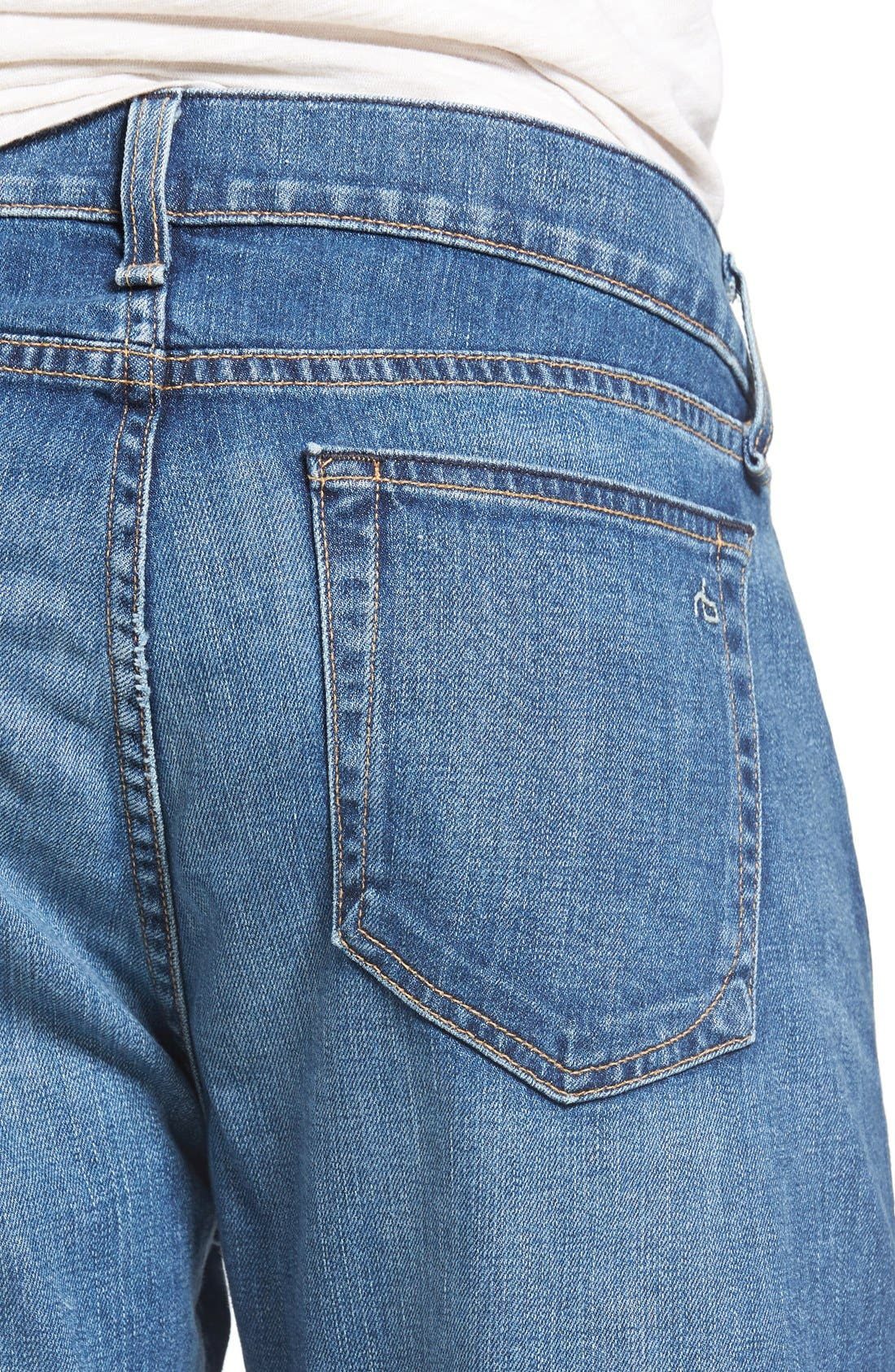 Standard Issue Fit 3 Slim Straight Leg Jeans,                             Alternate thumbnail 6, color,                             421