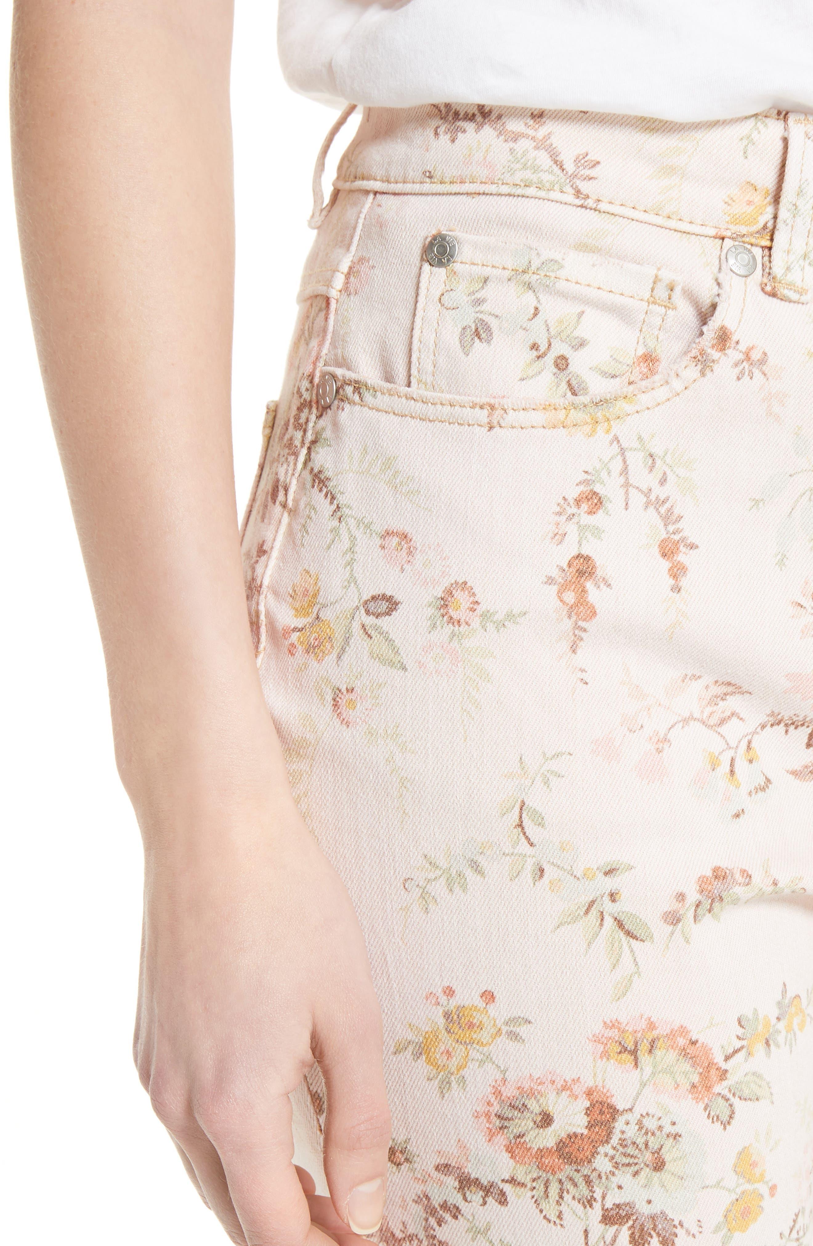 Belle Bouquet Ines Ankle Jeans,                             Alternate thumbnail 4, color,                             903