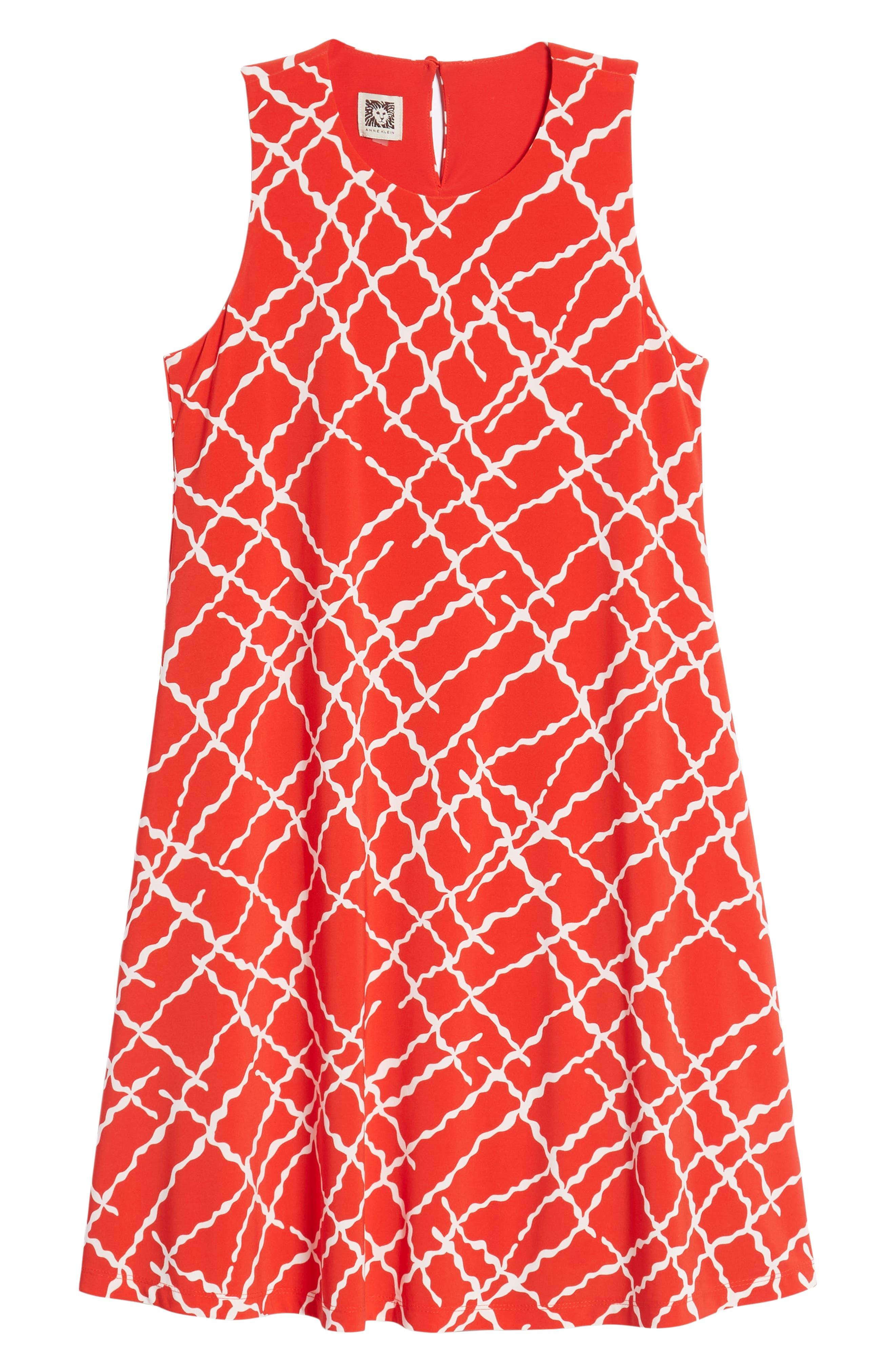 Print Swing Dress,                             Alternate thumbnail 13, color,