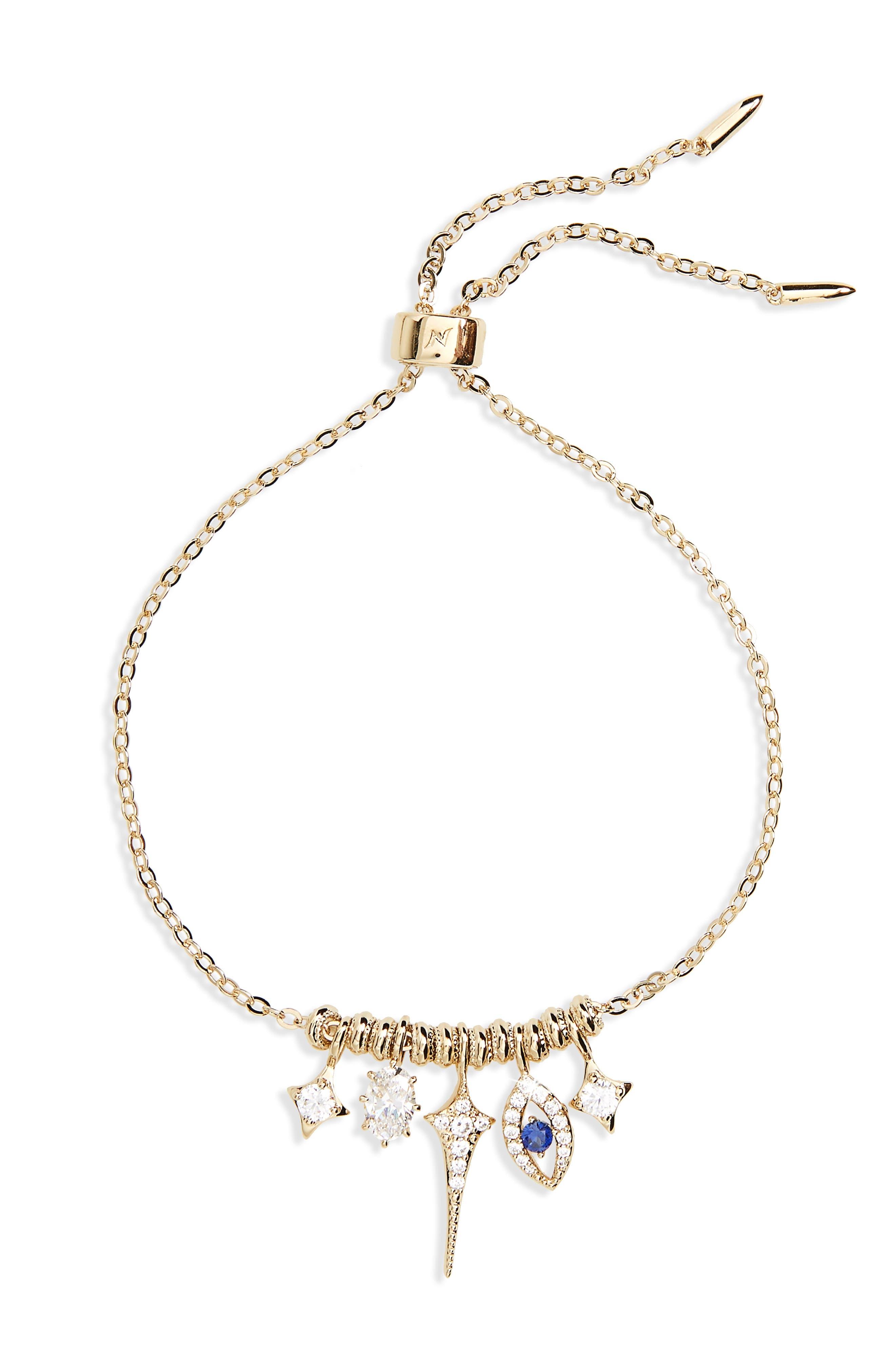 Nazar Evil Eye Charm Bracelet,                         Main,                         color, 710
