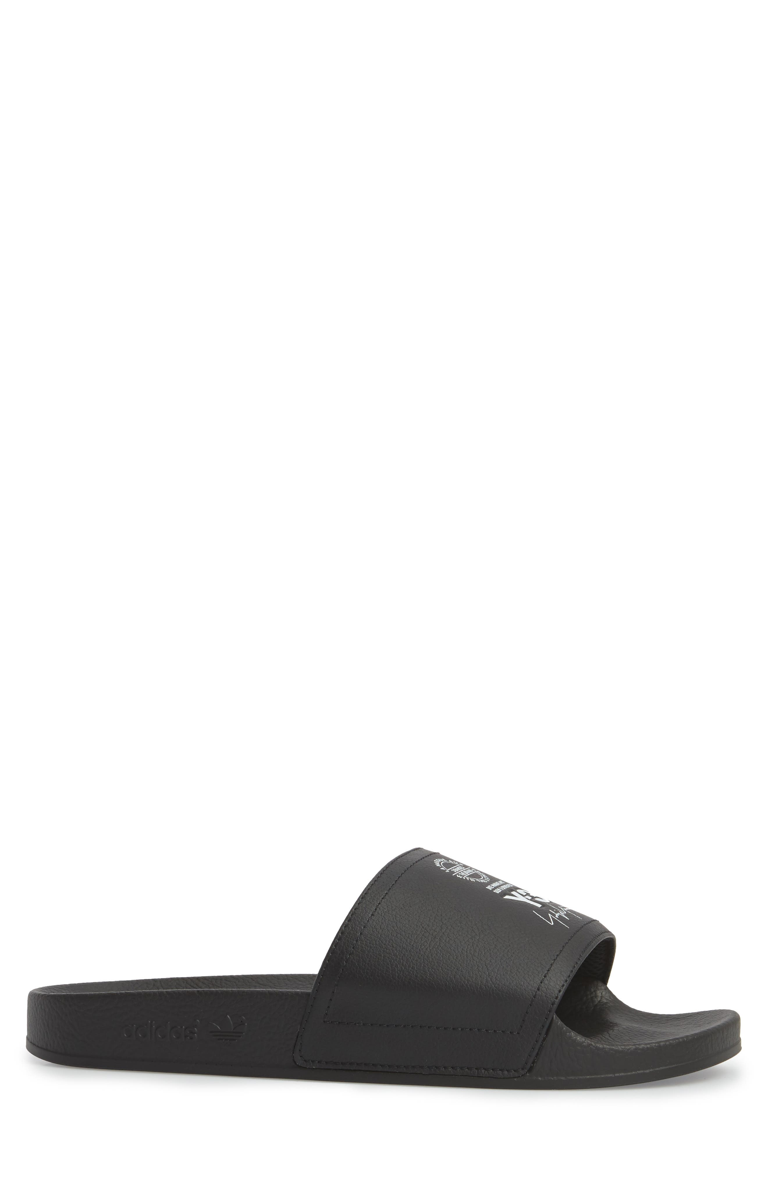 Y-3,                             Adilette Slide Sandal,                             Alternate thumbnail 3, color,                             001