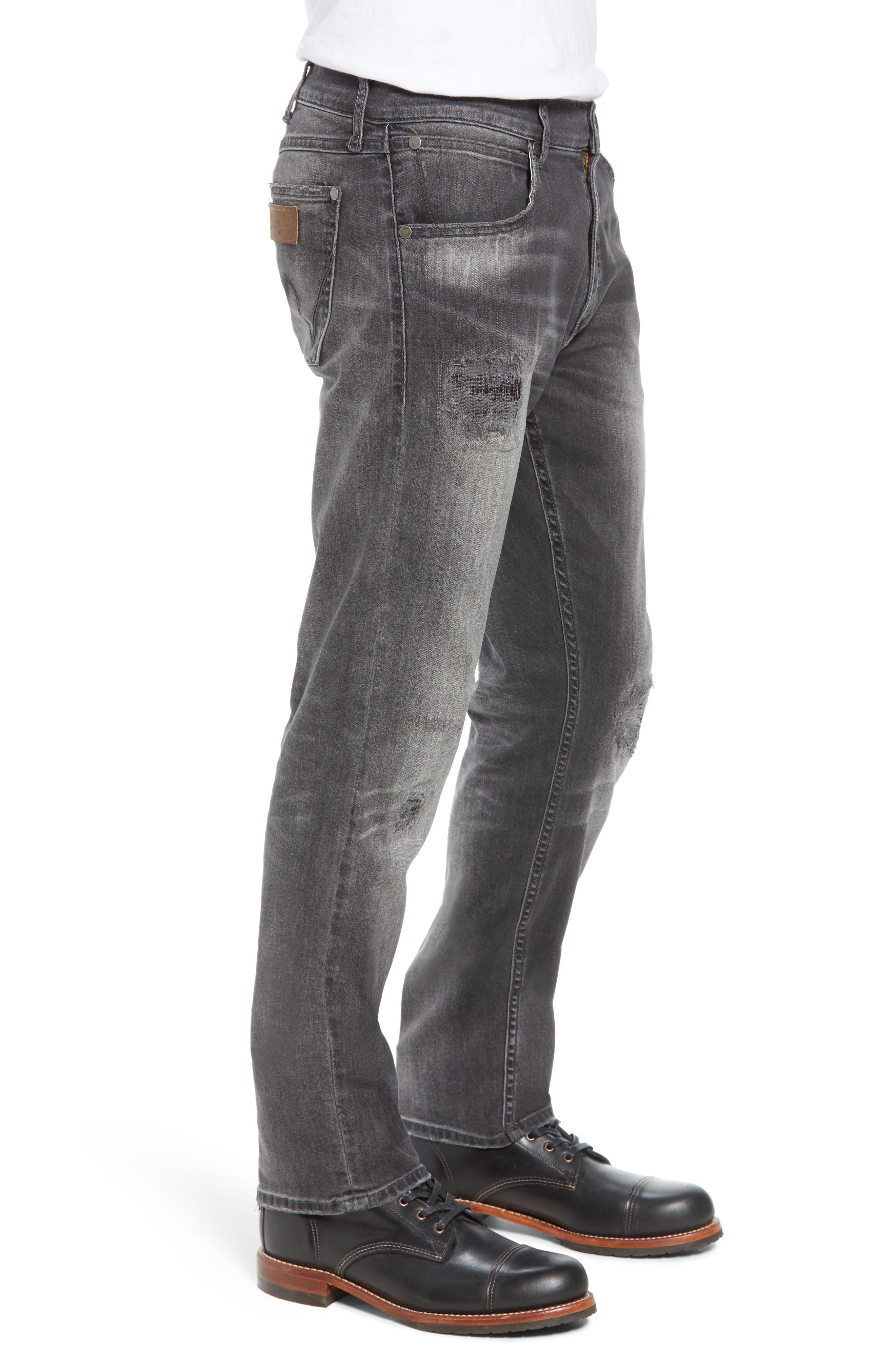 Greensboro Straight Leg Jeans,                             Alternate thumbnail 3, color,                             GREY DESTRUCT