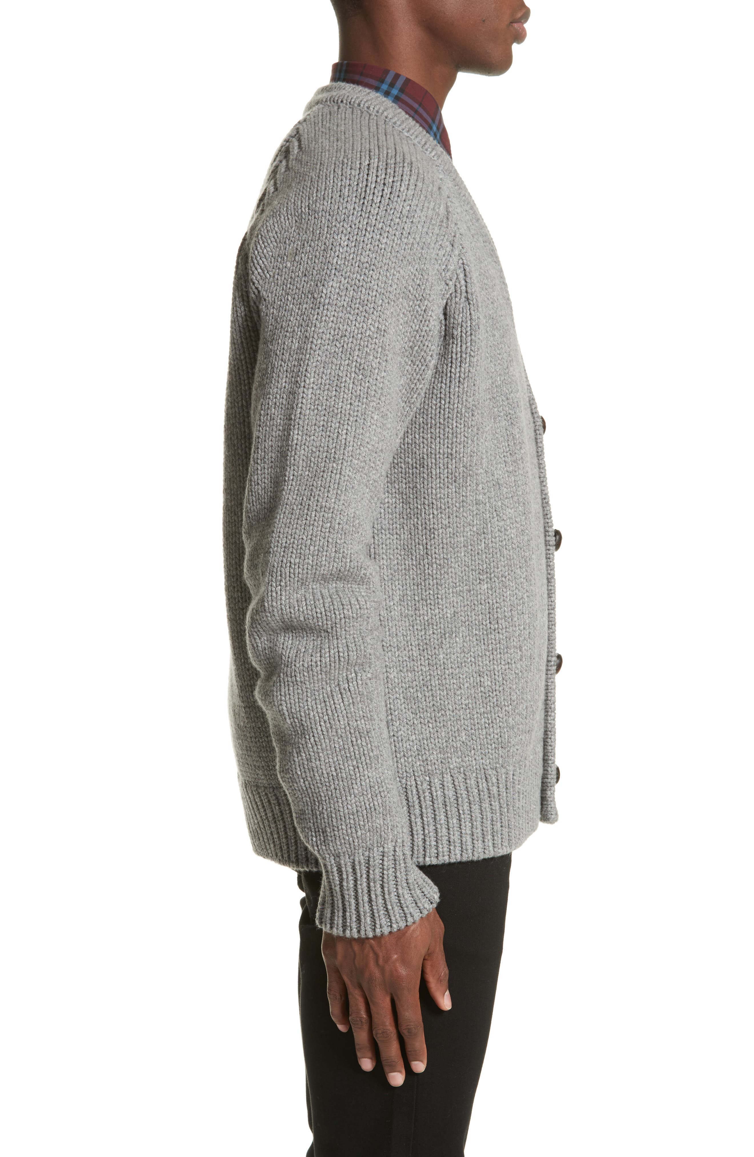 Caldwell Wool & Cashmere Cardigan,                             Alternate thumbnail 3, color,